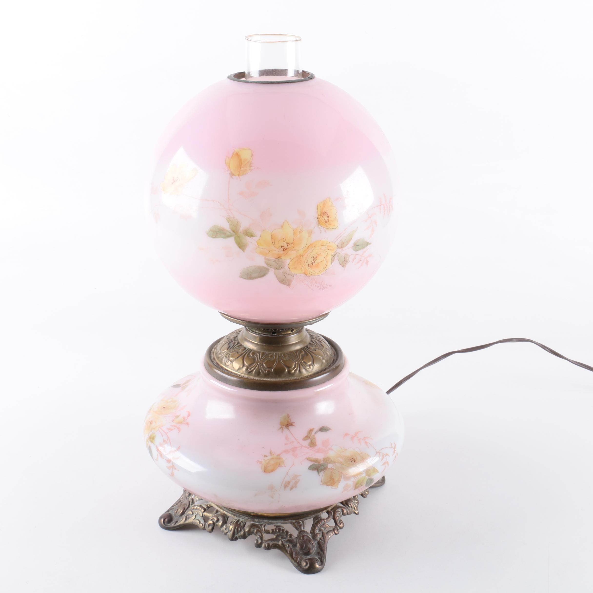 Vintage Floral Parlor Lamp