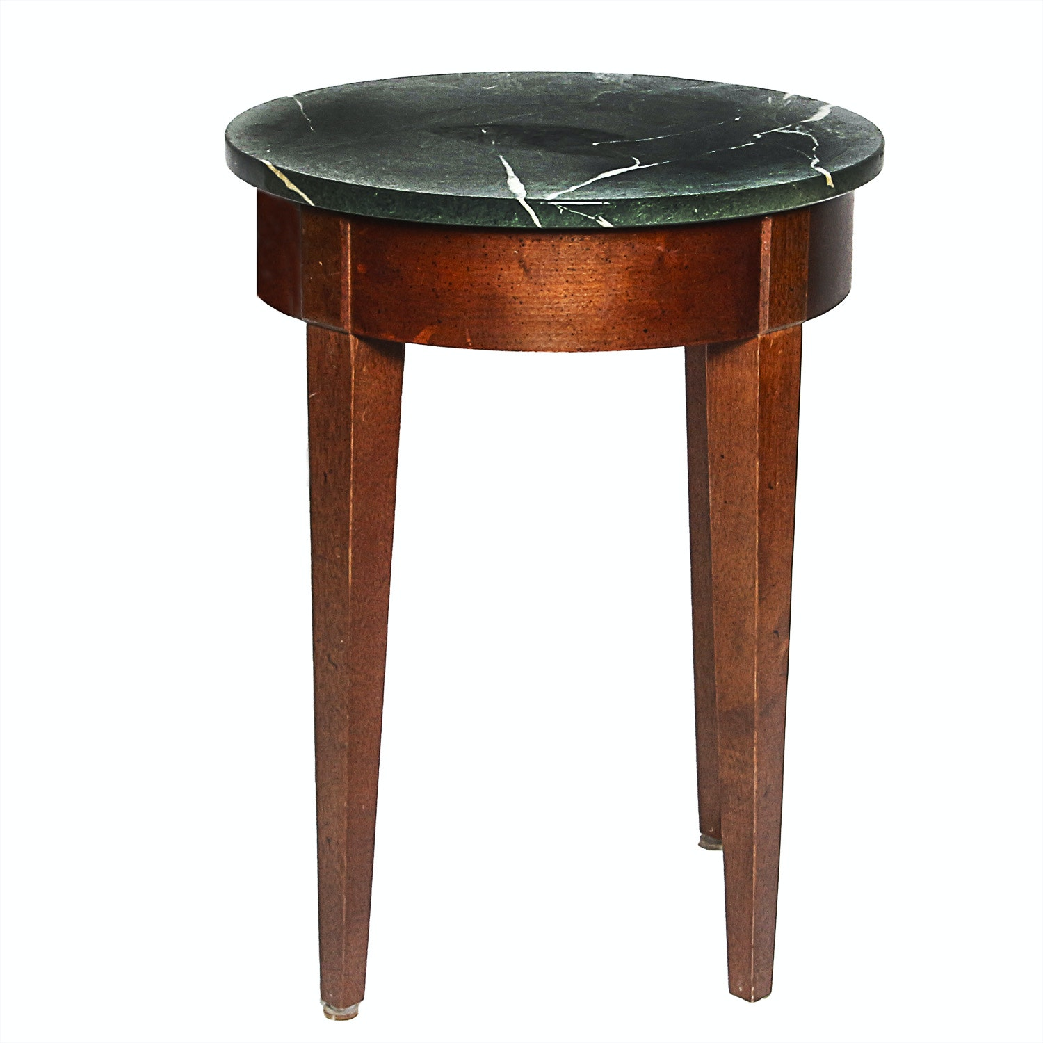Classical Style Occasional Table with Marble Top