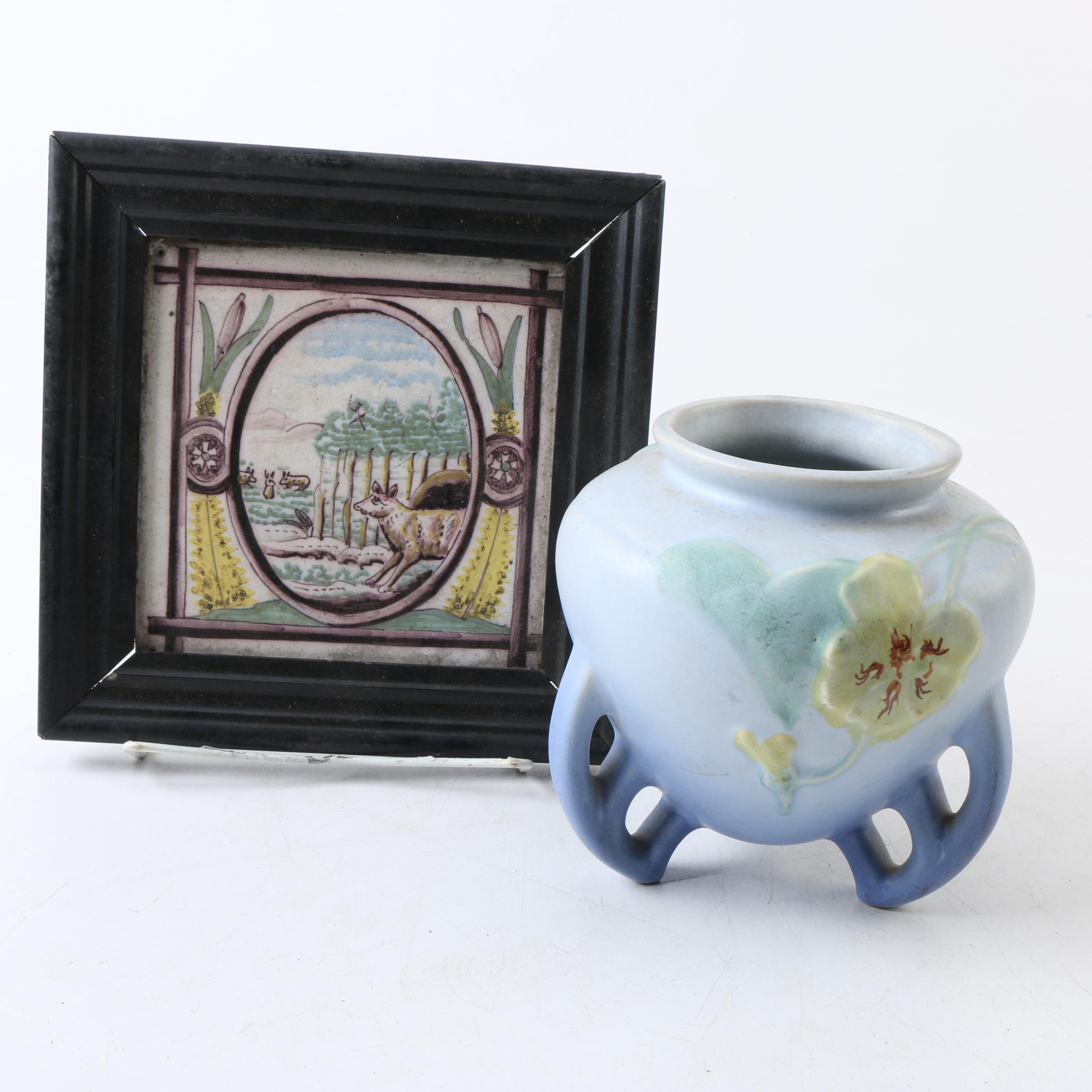 Framed Painting and Vase