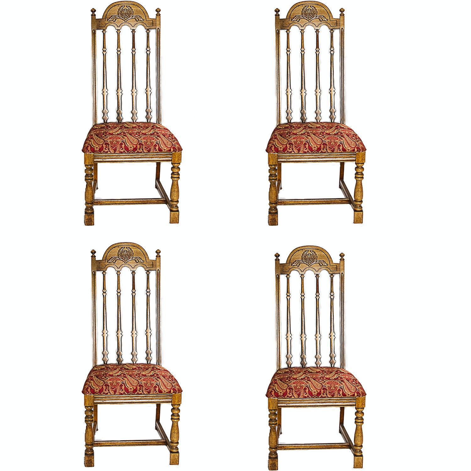 English Style Oak Dining Chairs