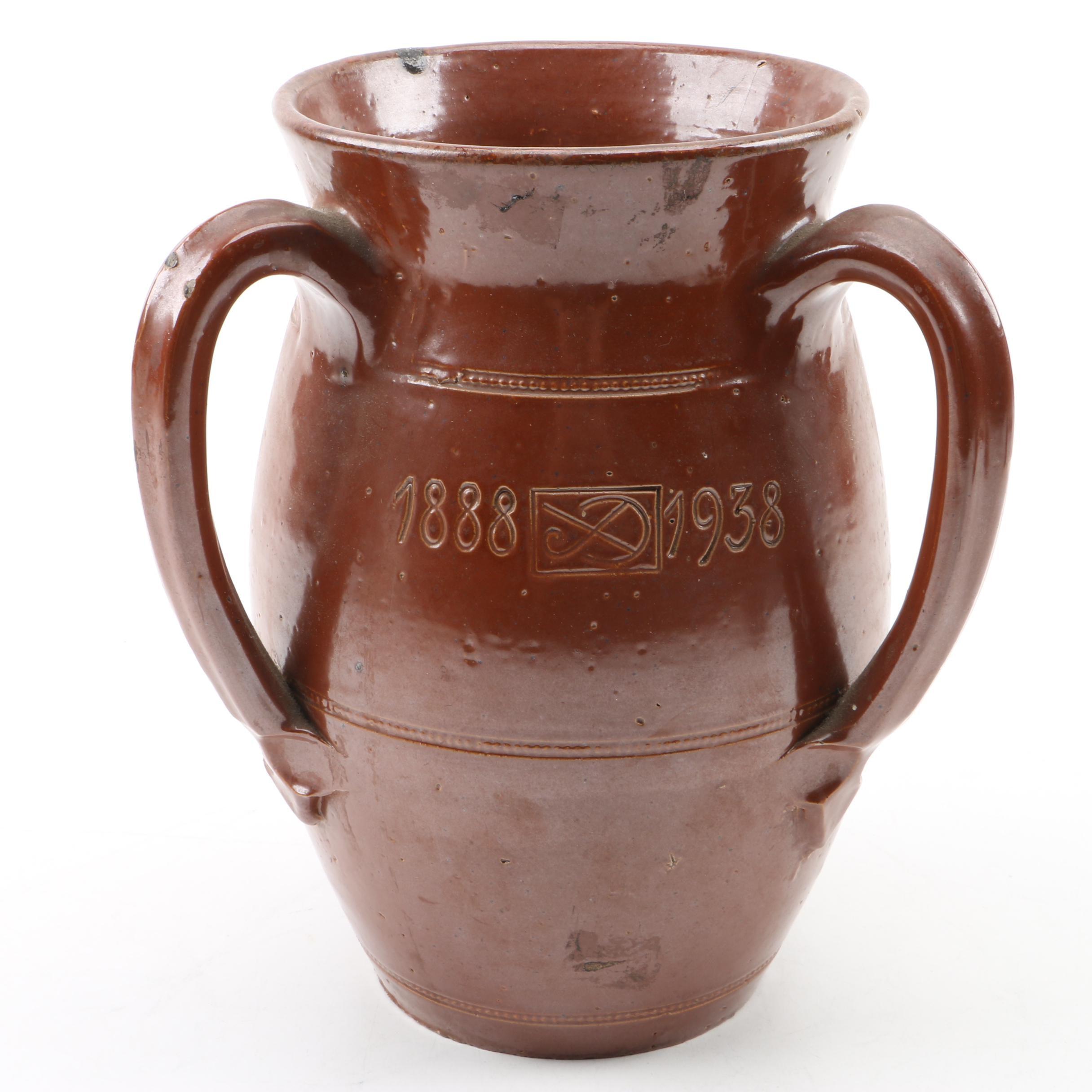 Vintage Belgian Stoneware Jubilee Stein
