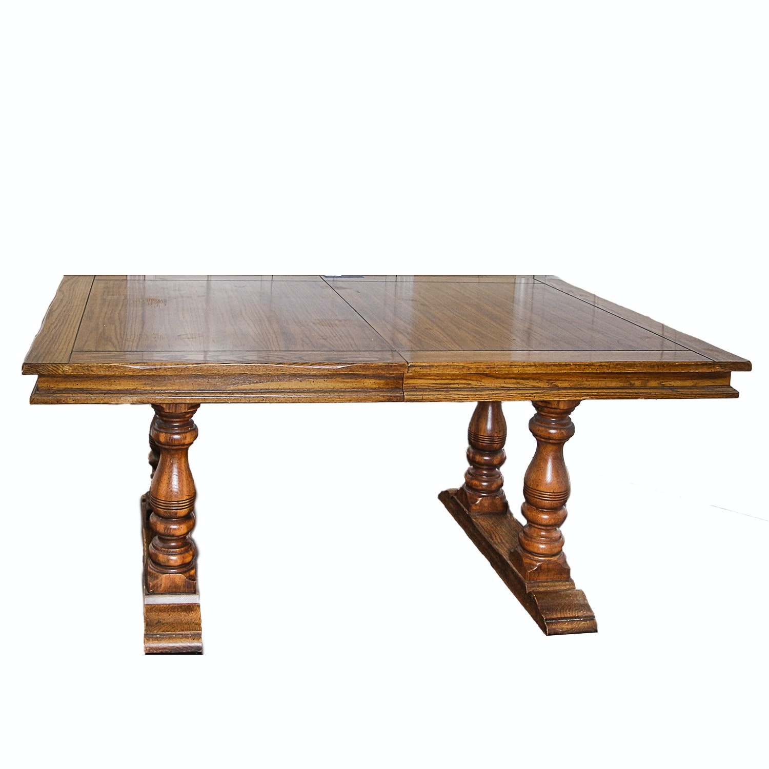 English Style Trestle Dining Table