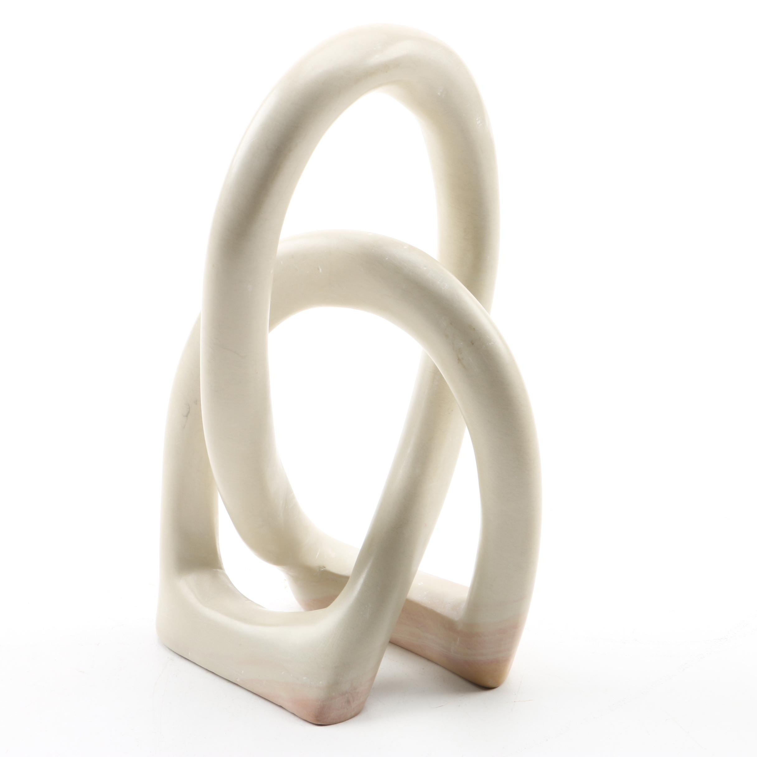 Soapstone Sculpture of a Trefoil Knot