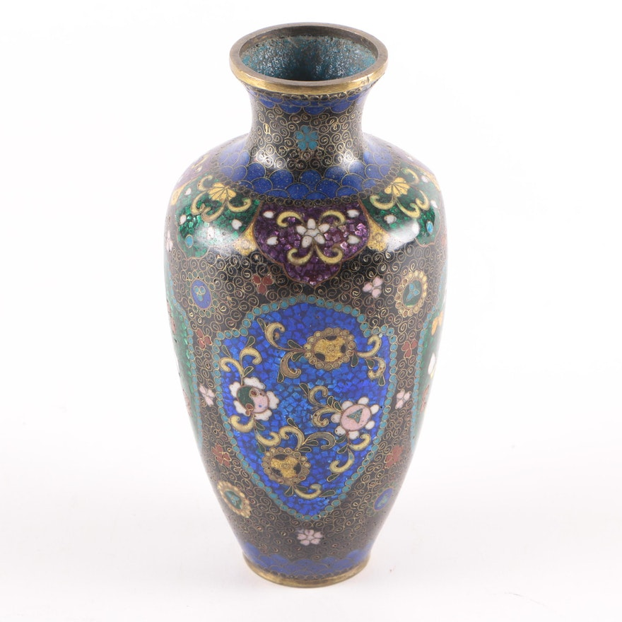 Antique Chinese Cloisonn Vase Ebth
