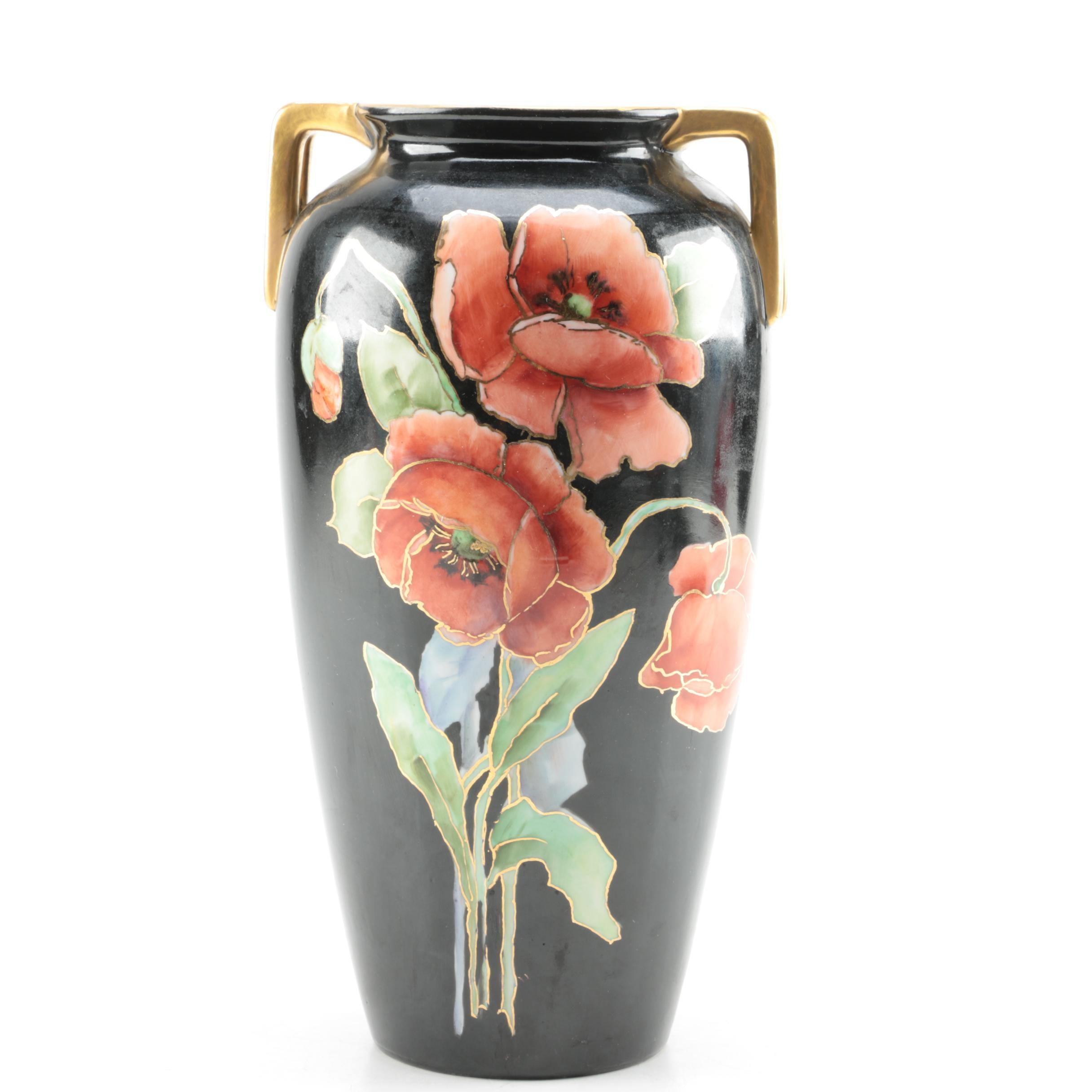 Ceramic Japanese Floral Vase