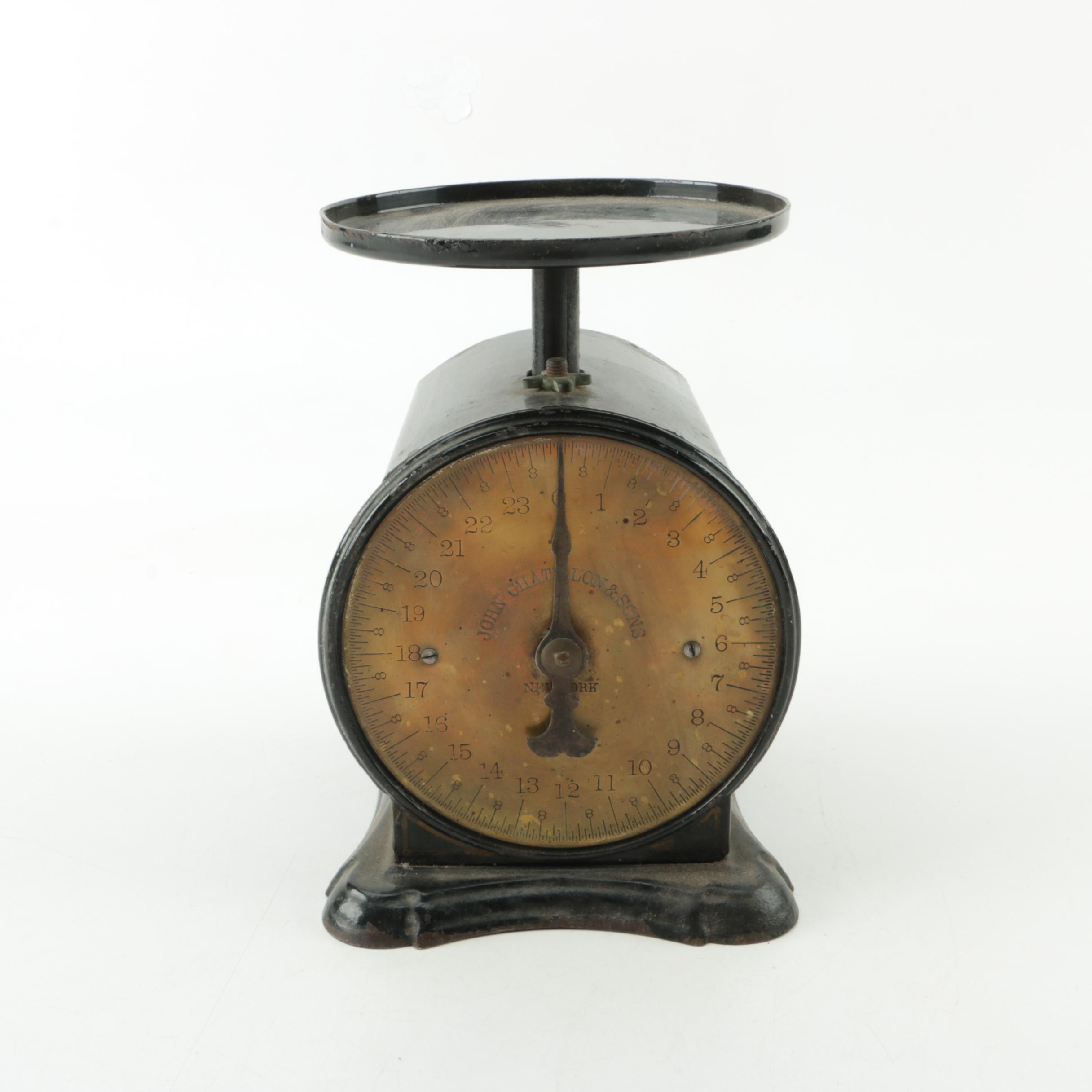 """Antique John Chatillon & Sons """"The Family Favorite Scale"""""""