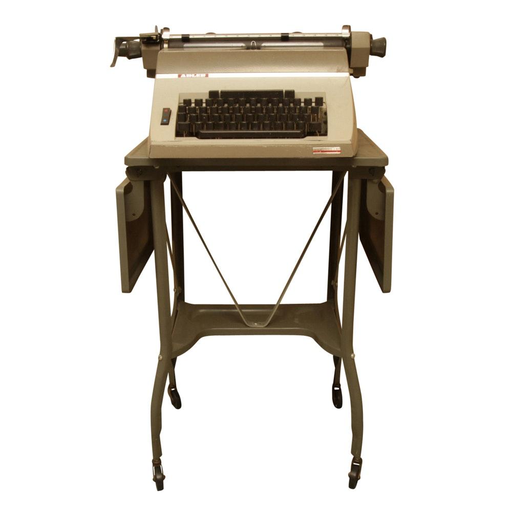 1970s Adler Universal 200 Typewriter on Metal Rolling Table
