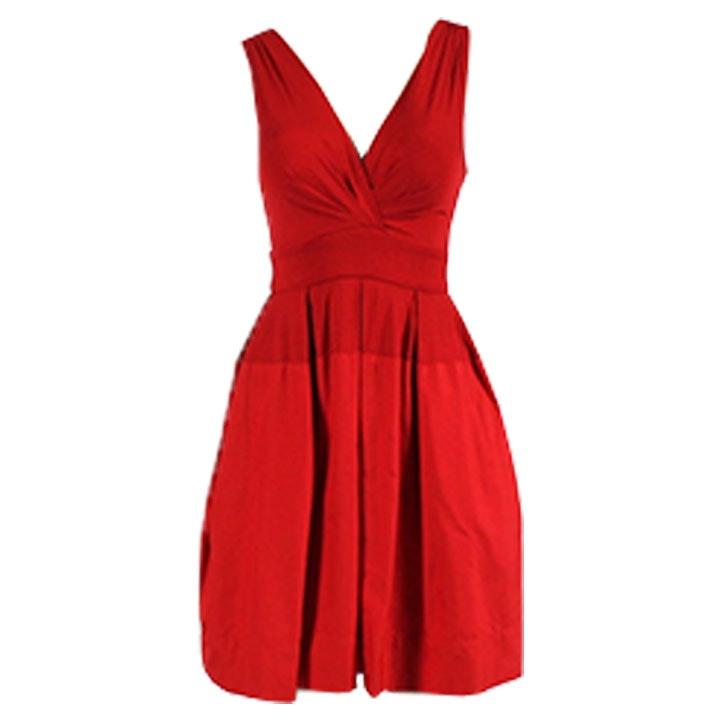 DKNY Color Block Surplice Dress