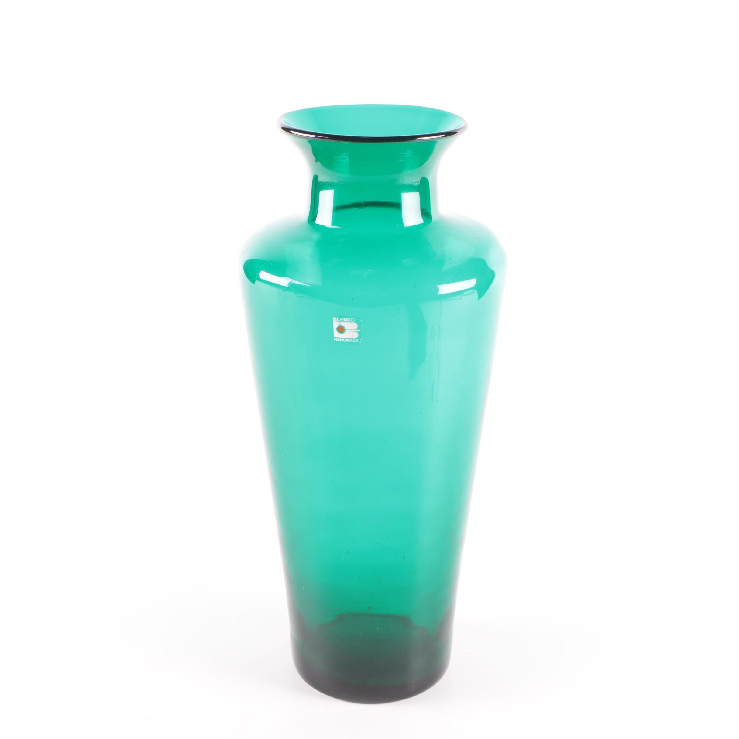 Blenko Handmade Glass Vase