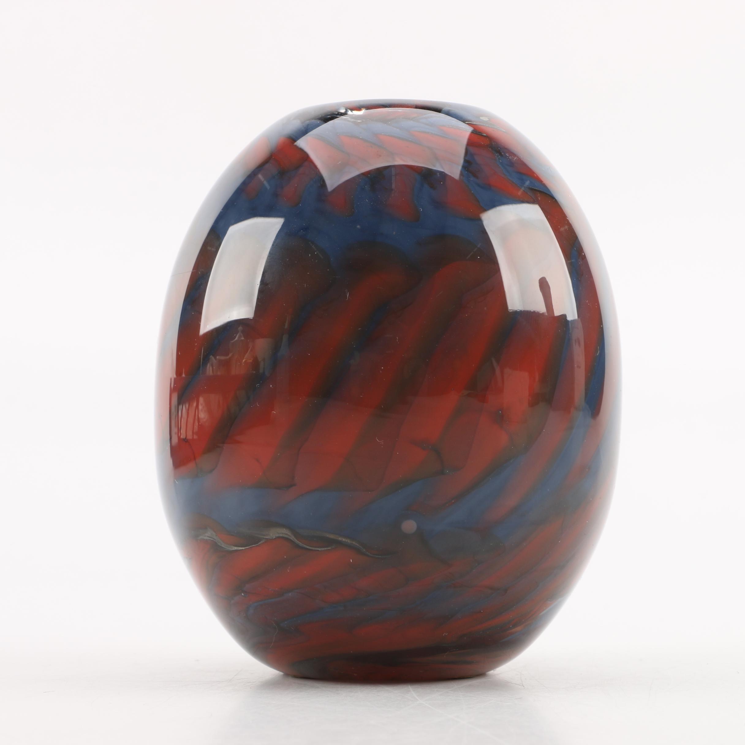 1978 Doug Sweet Art Glass Vase from Karuna Glass Co.