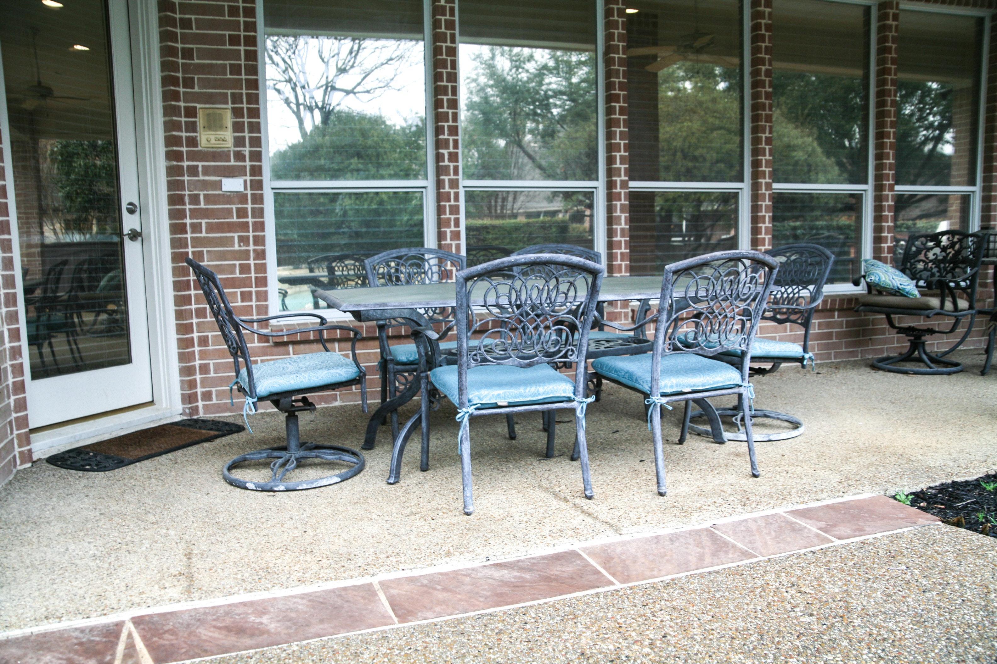 glass top patio table and chairs rh ebth com Patio Table Glass Top Clips Patio Table Glass Top White