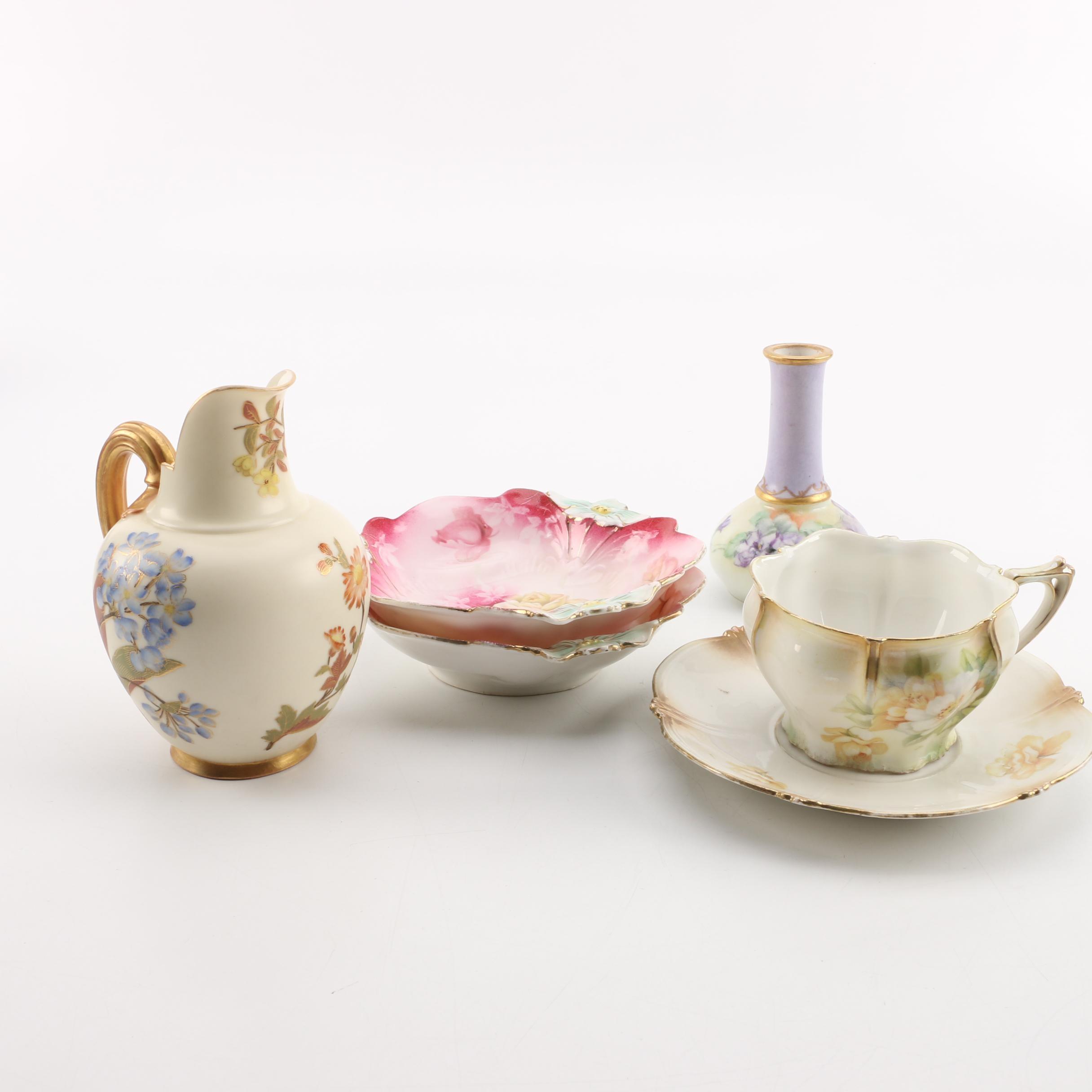Floral Porcelain Collection including Antique Royal Worcester