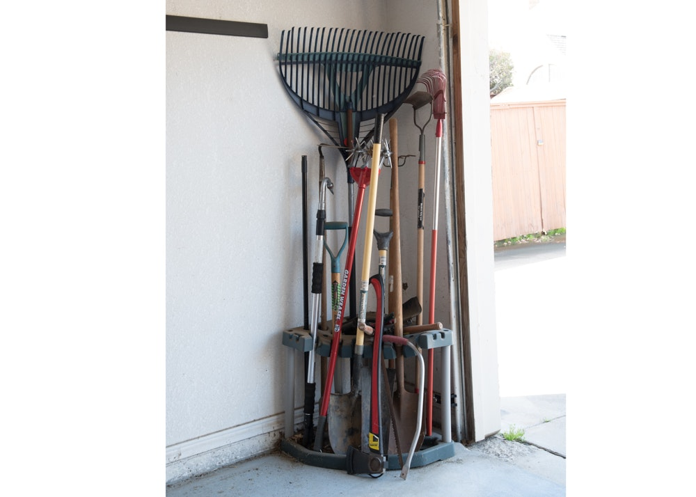 Rakes, Cultivator, Shovels, Axe, Saw and More