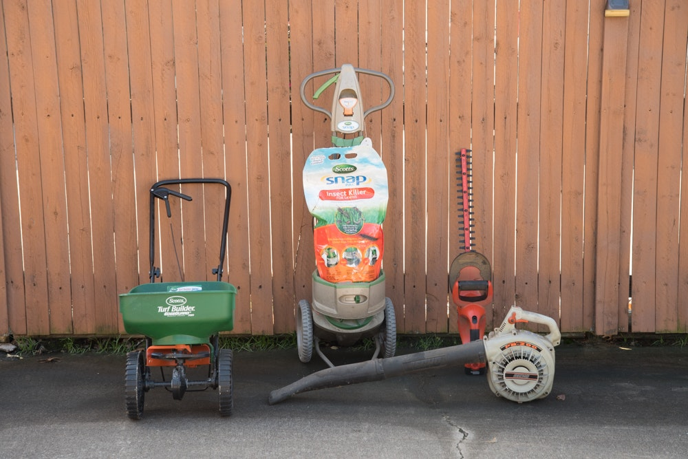 Outdoor Lawn Tools Including Scotts