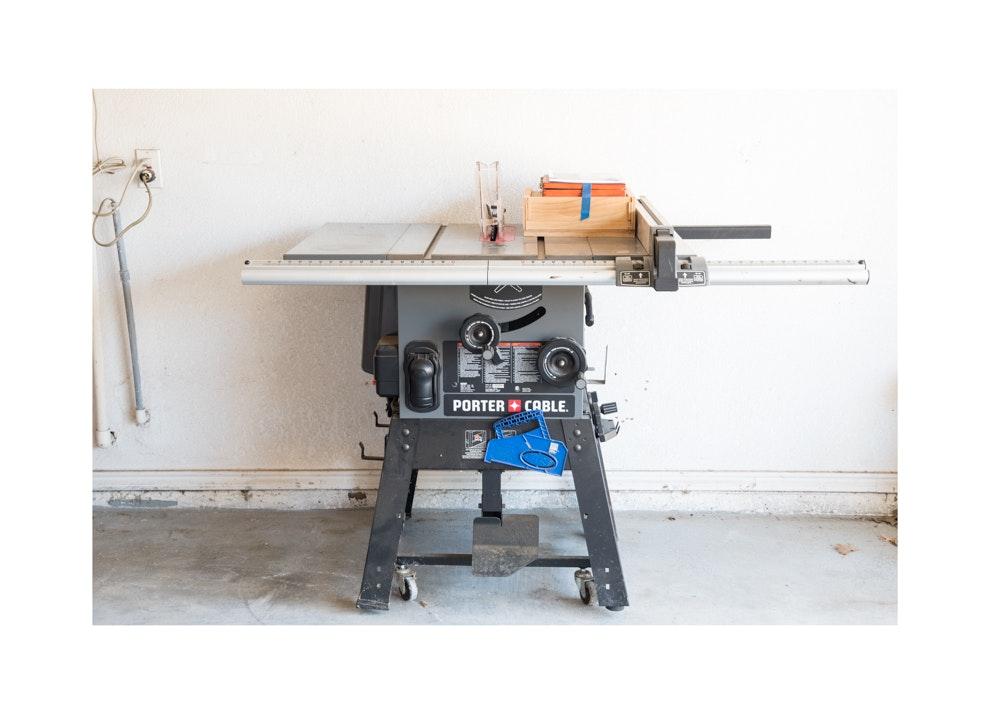 Porter Cable Stationary Table Saw and Mibro Dado Set