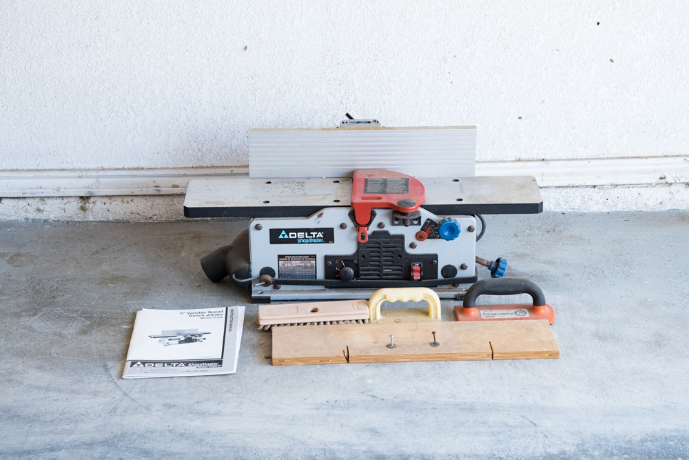 """Delta ShopMaster 6"""" Variable Speed Bench Jointer and Other Tools"""