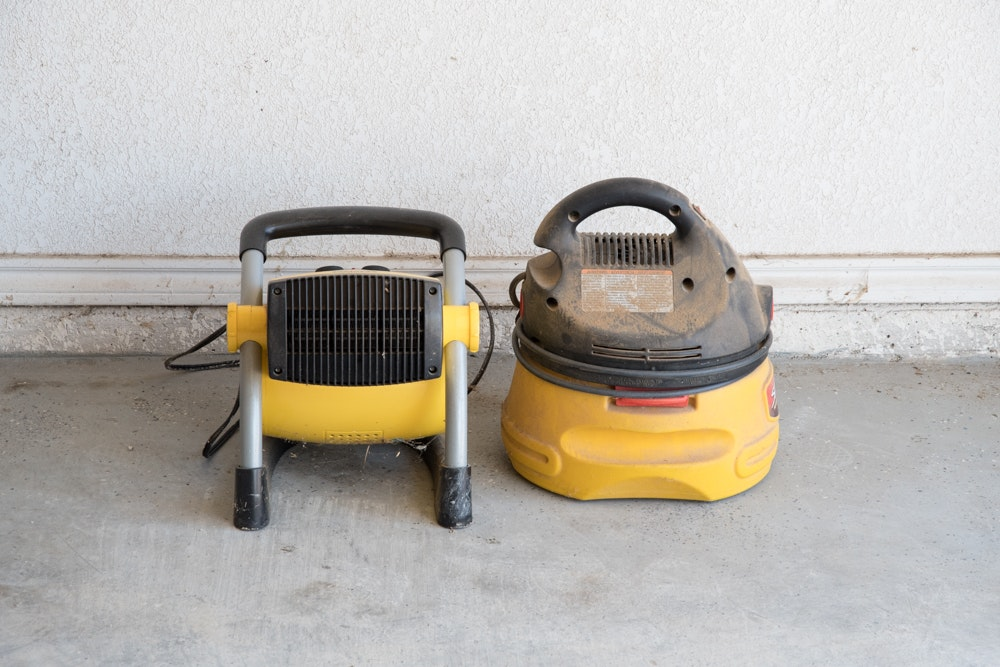 Stanley Pivoting Utility Heater and Stinger Wet and Dry Vaccum
