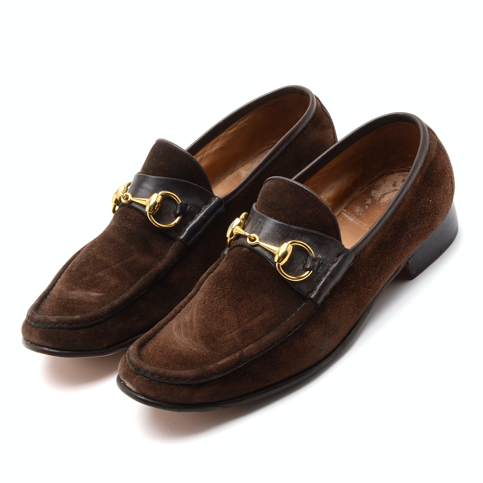 Men's Vintage Brown Suede Loafers with Horsebit Hardware