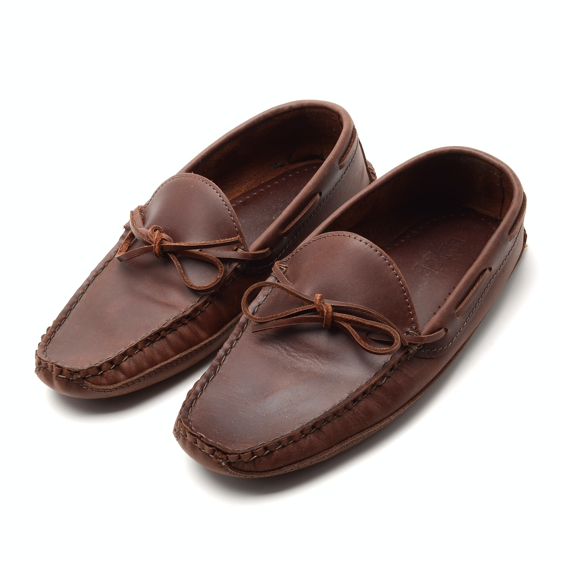 ET. Wright Brown Leather Moccasins