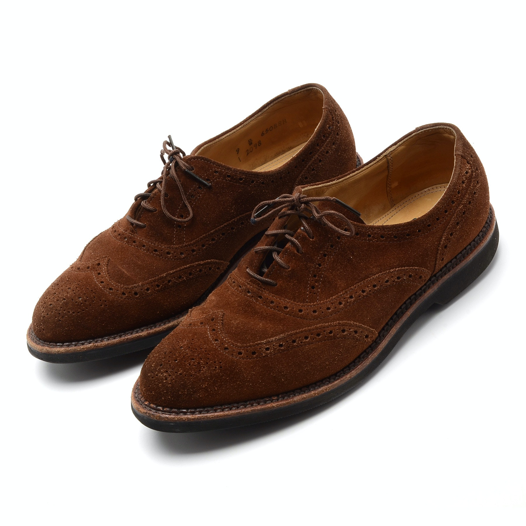 Men's Cole Haan Oxford Country Brown Suede Lace-Up Shoes