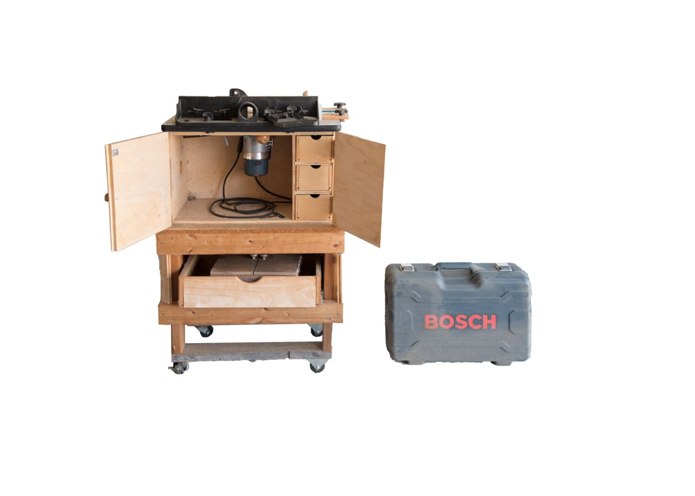 Bosch Router Table, Bits and Plunge Attachment