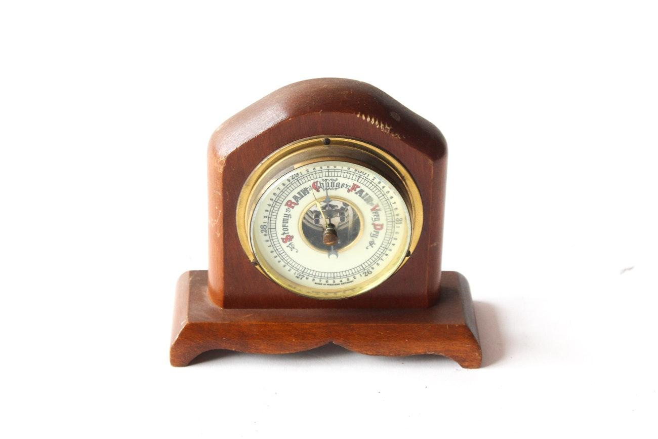 Woodcraftery Vintage German Barometer