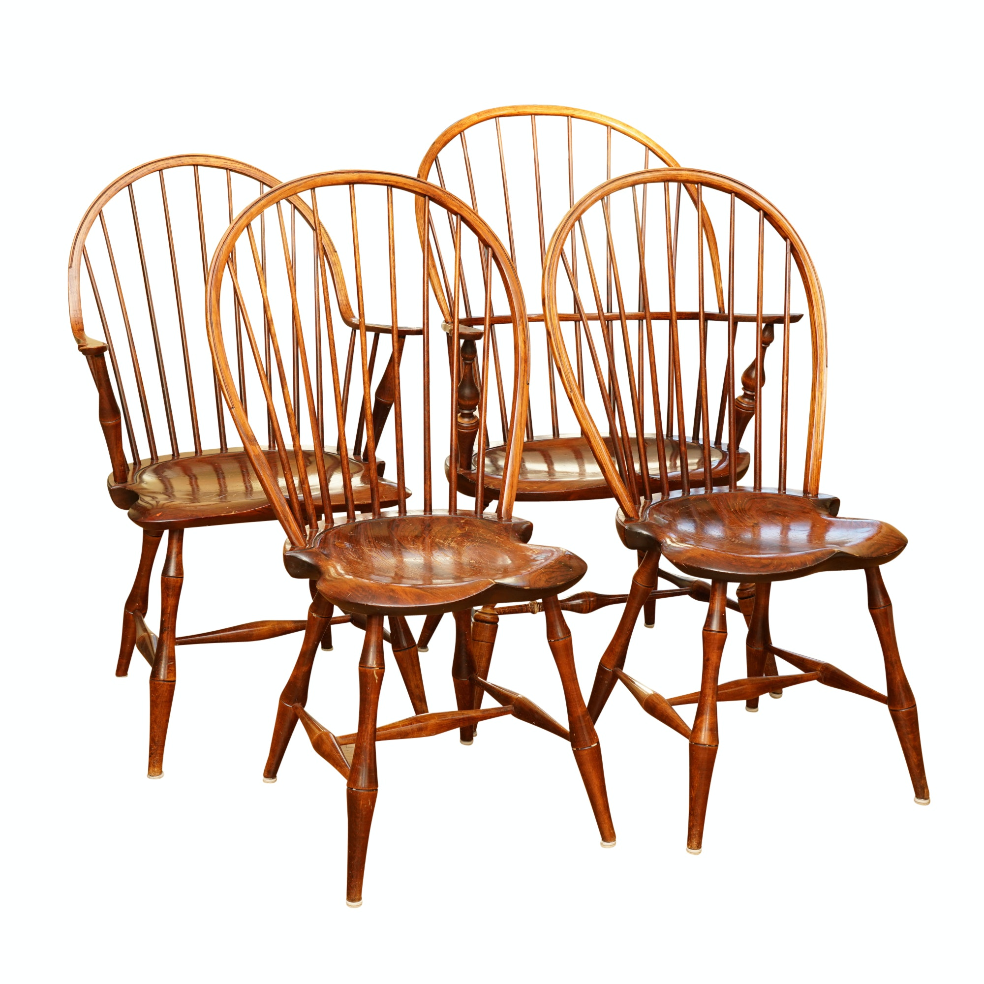 Set of Four Windsor Style Chairs by D.R. Dimes