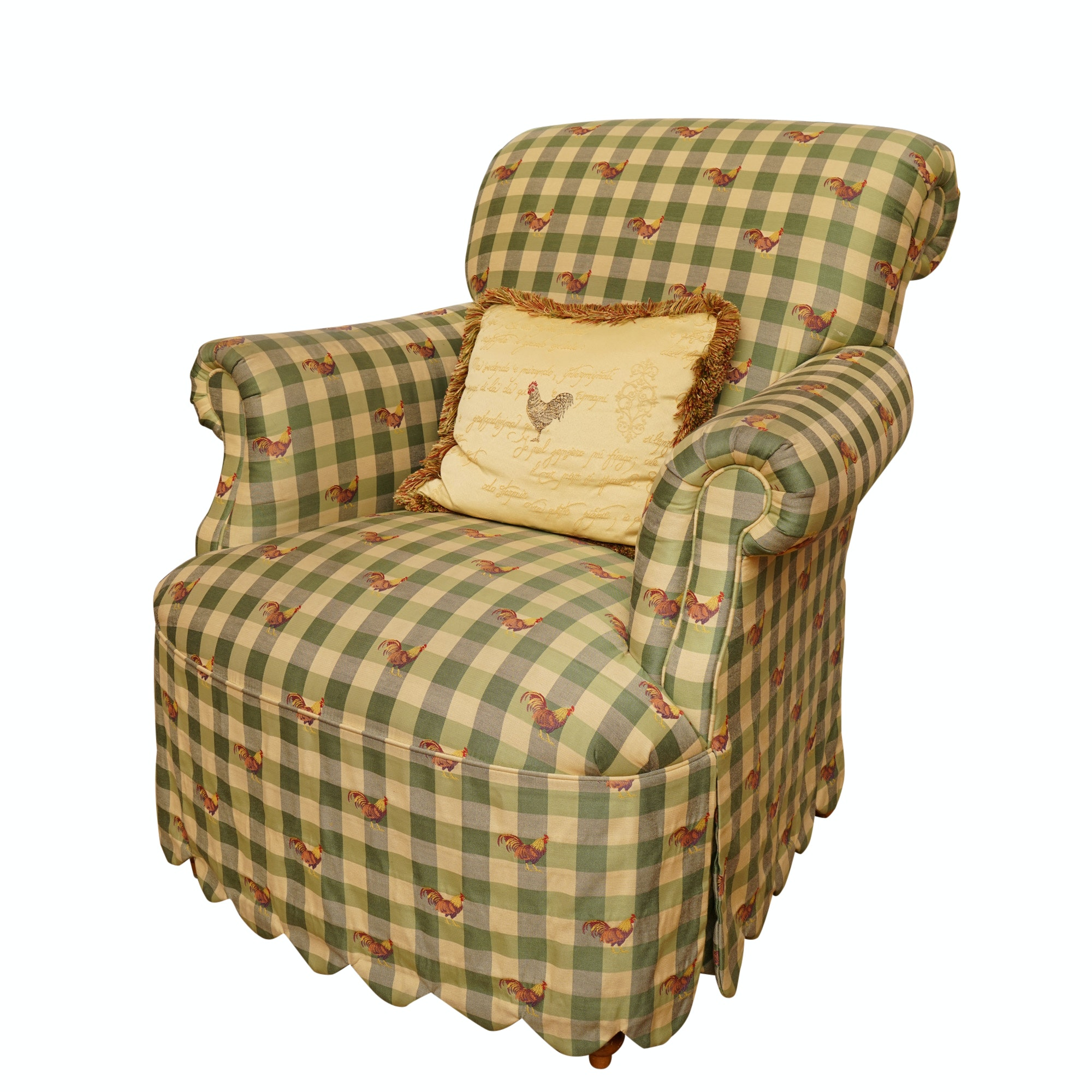 Farmhouse Style Upholstered Armchair