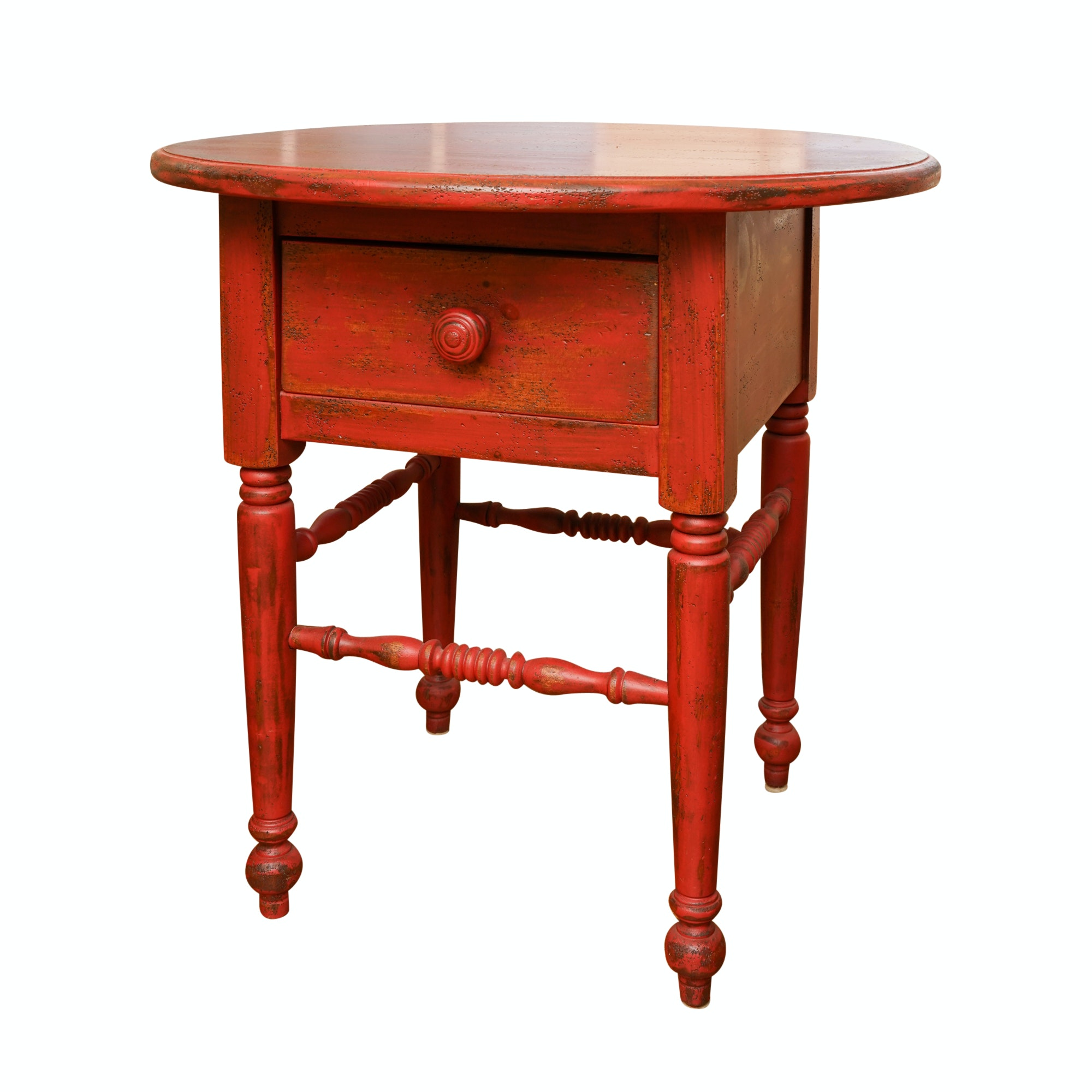 Painted and Distressed Wood Side Table by Eddy West