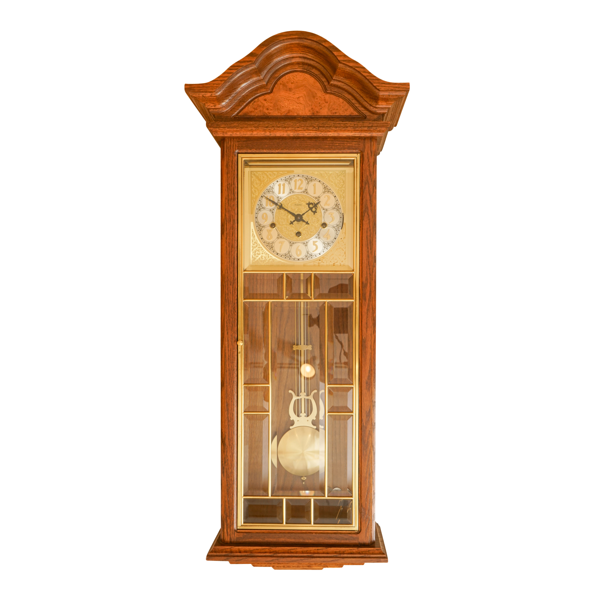 Ansonia Gold Medallion Pendulum Wall Clock EBTH