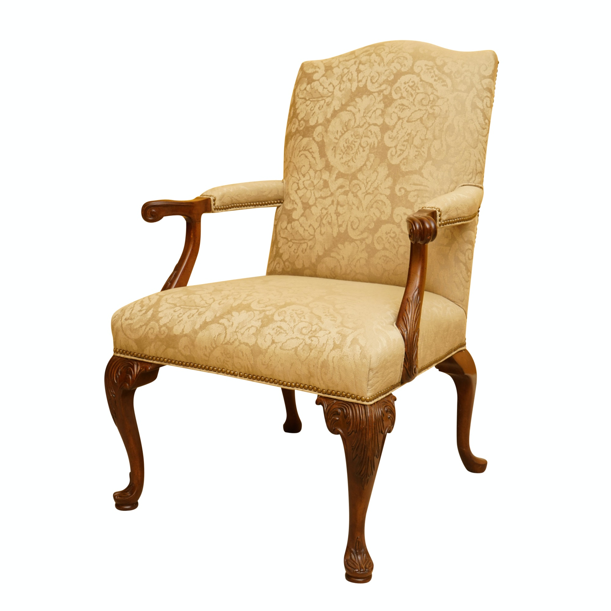 Louis XV-Style Upholstered Armchair
