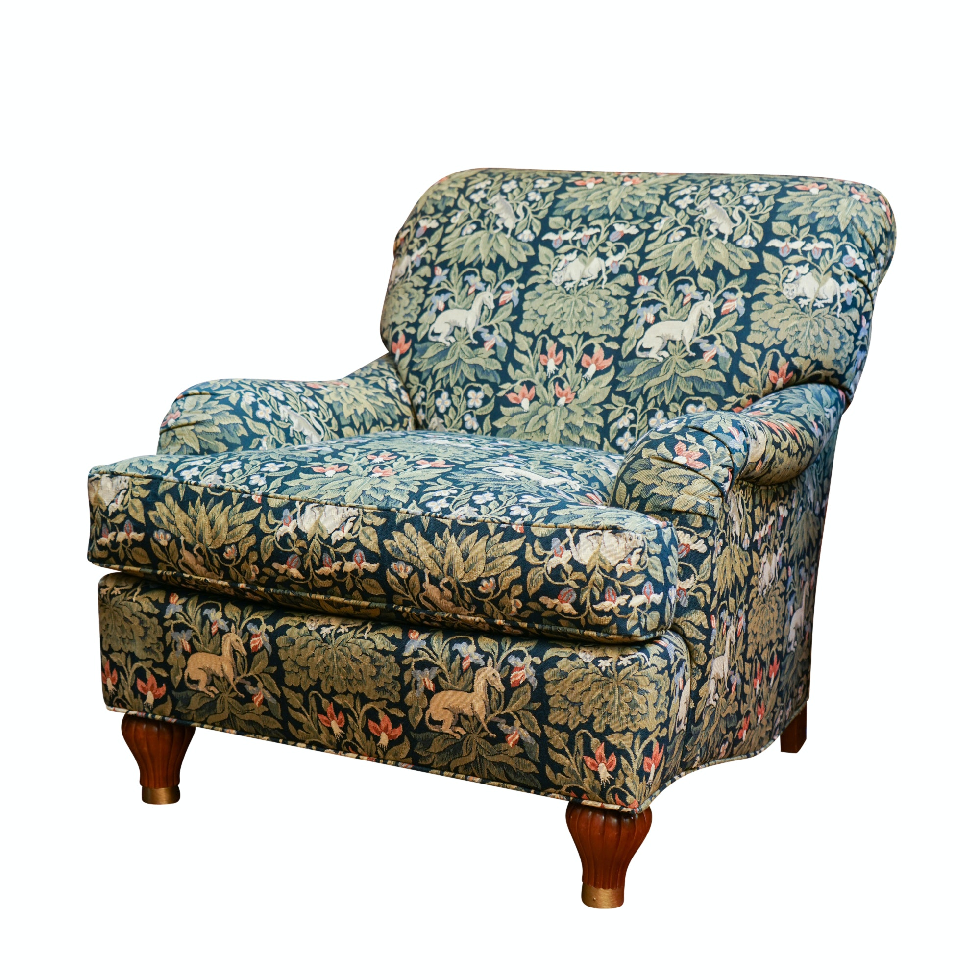 Print Upholstered Lounge Chair by Stanford Furniture
