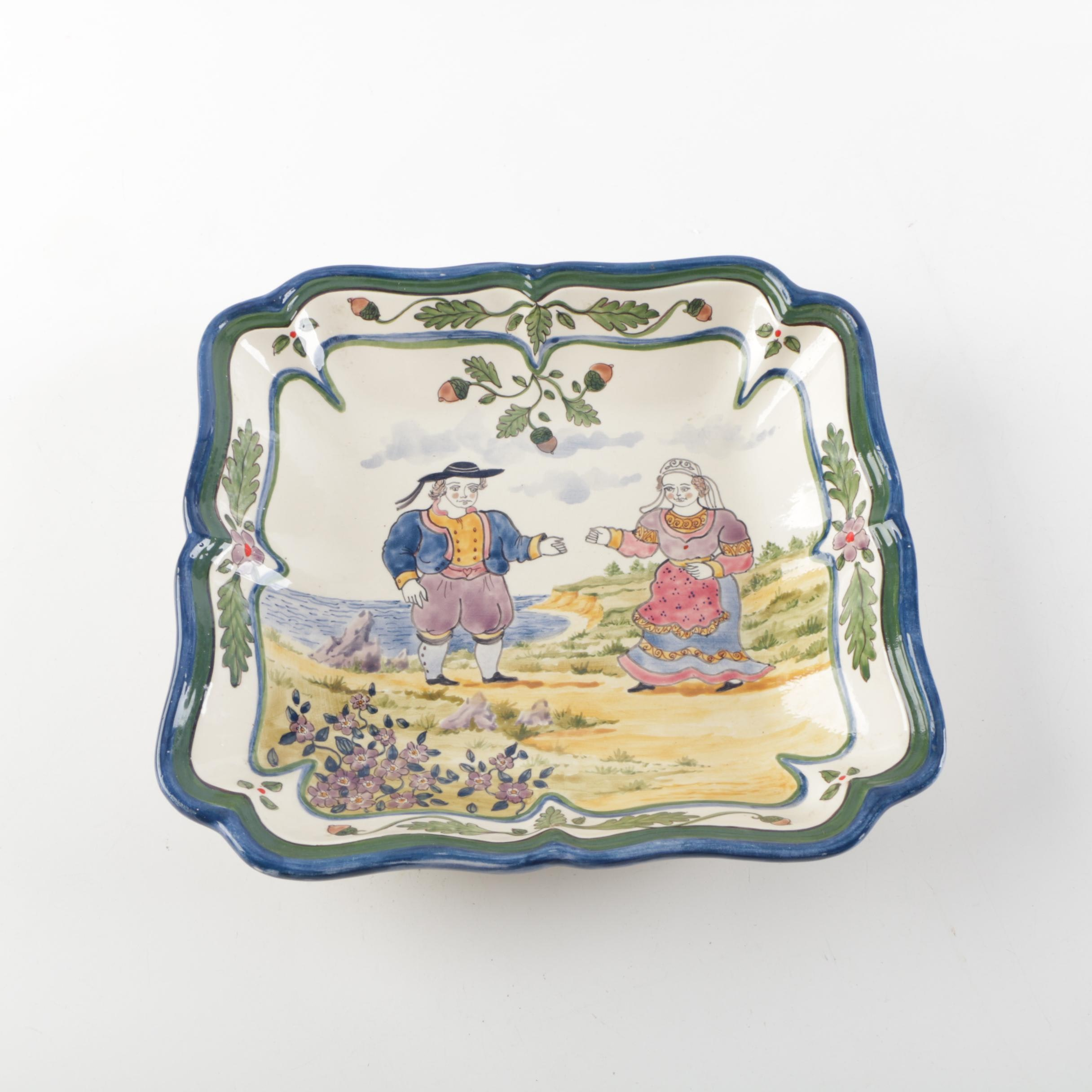 Handpainted French Porcelain Bowl