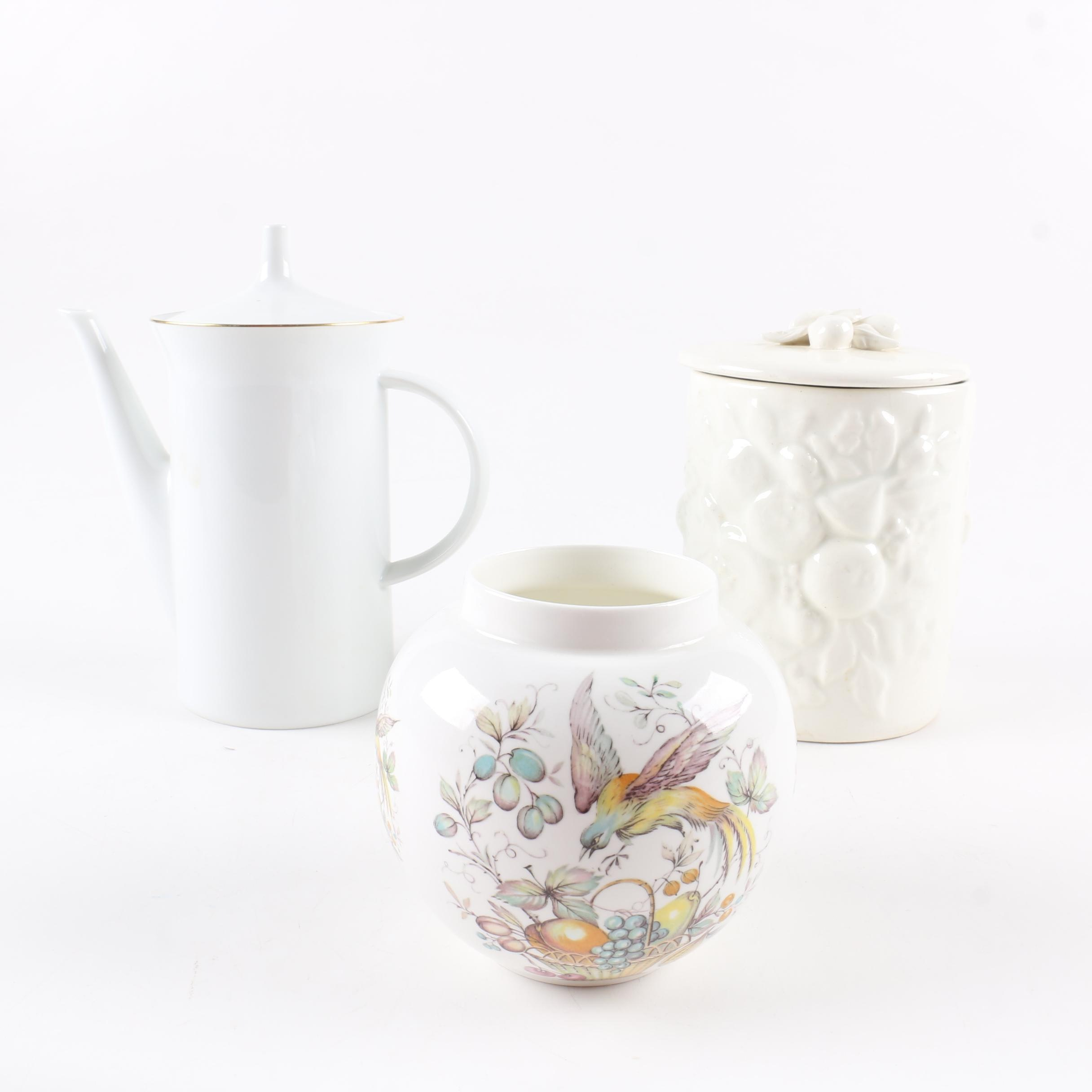 Porcelain and Ceramic Vessels including Rosenthal