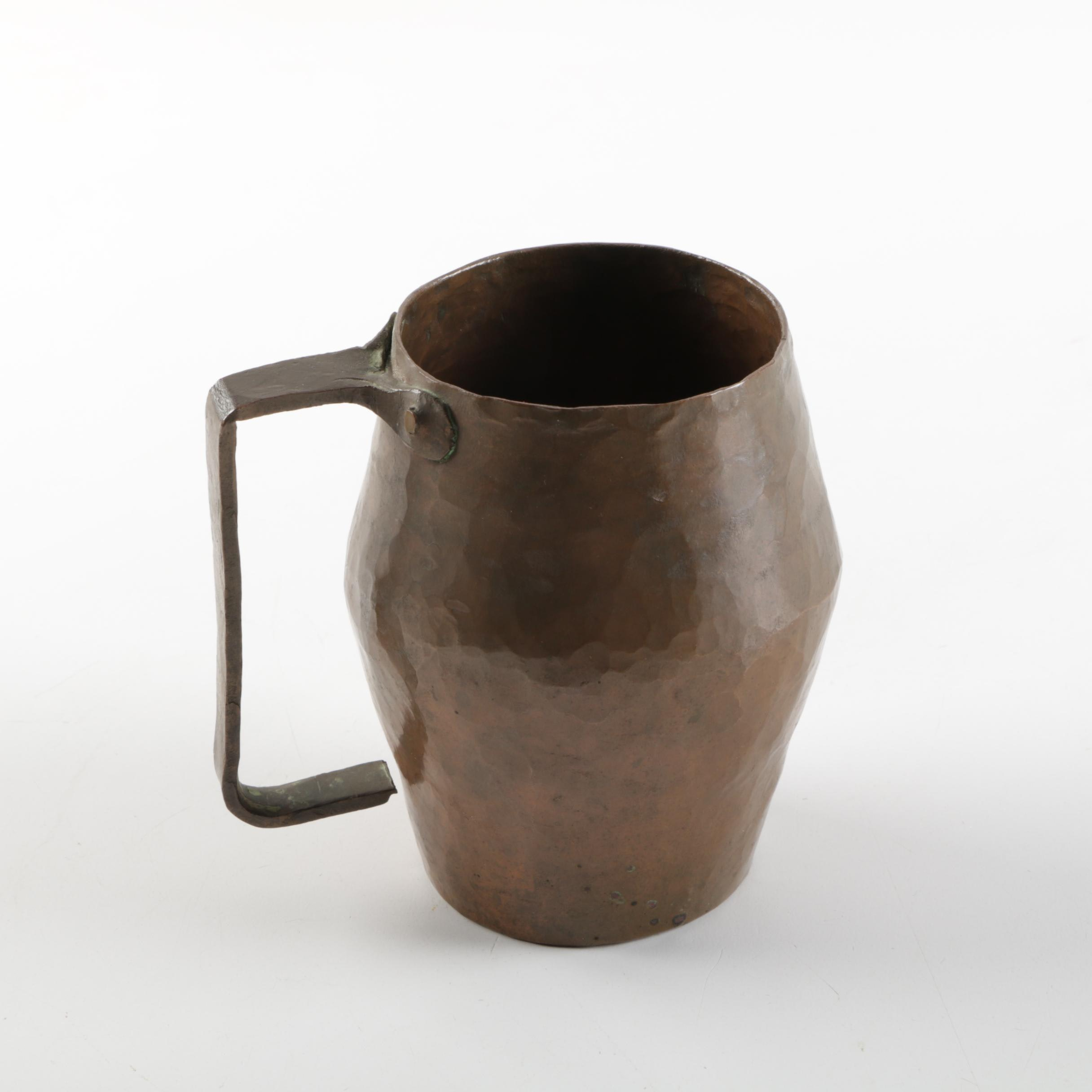 Vintage Hammered Copper Mug