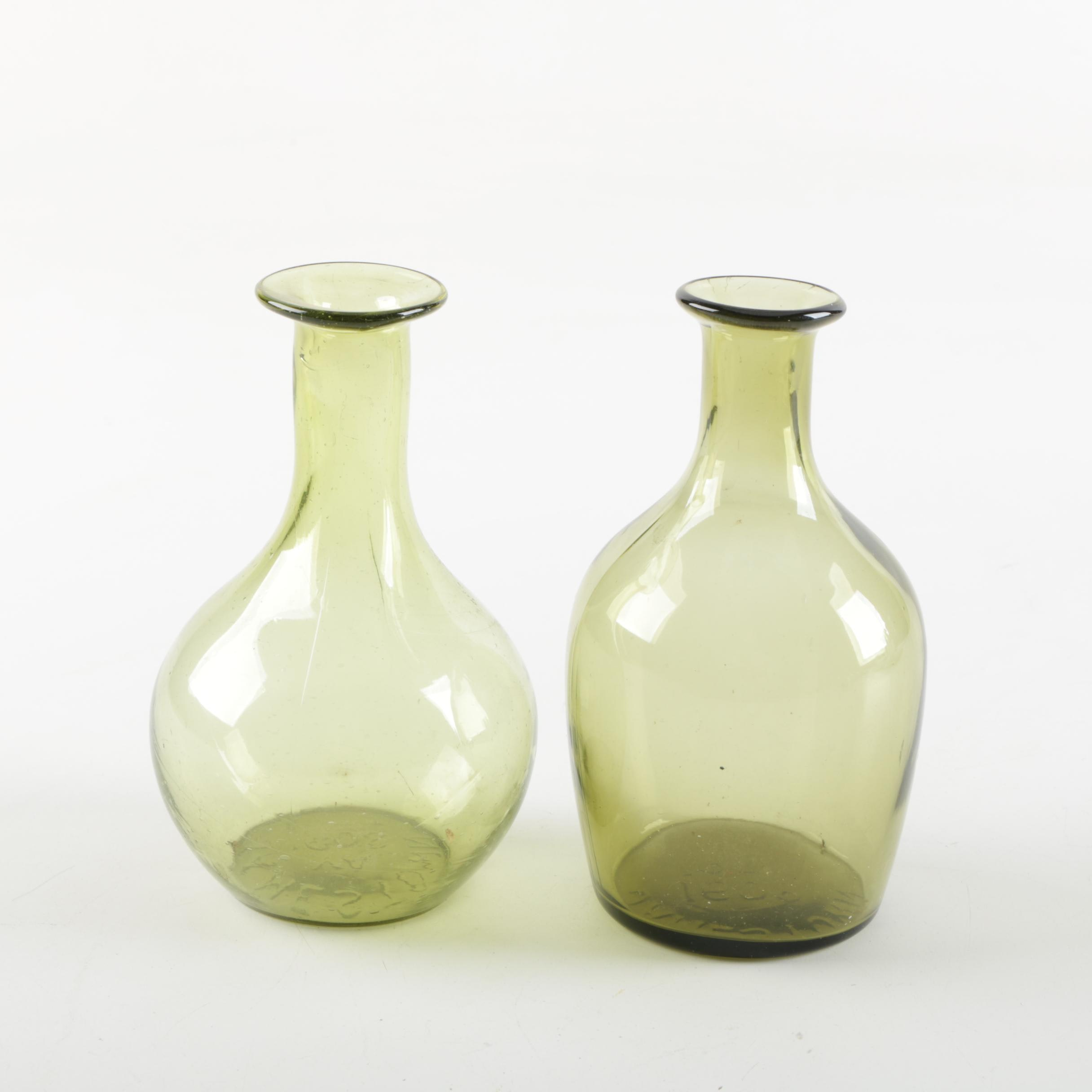 Pairing of Vintage Jamestown Glass Vases