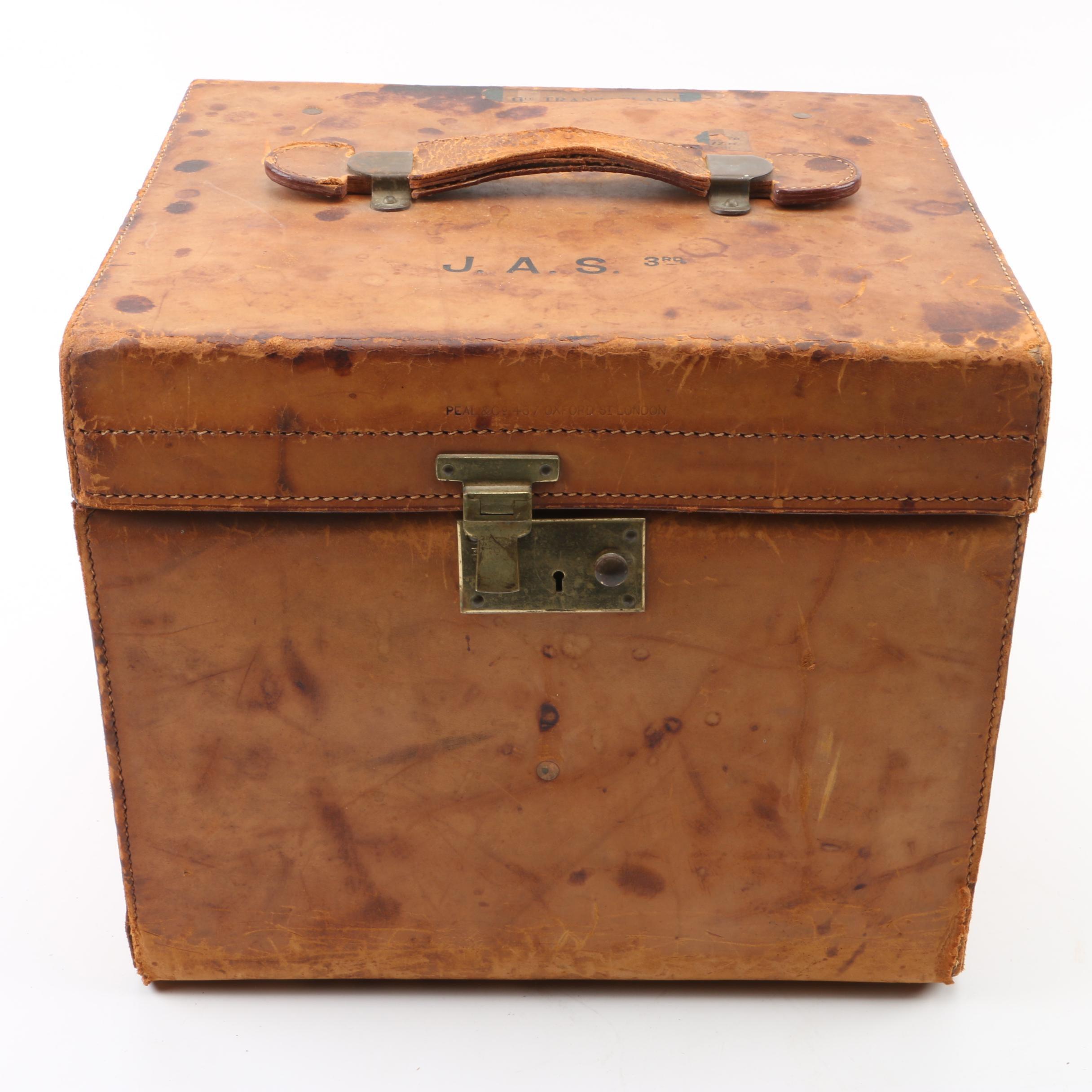 Vintage Peal & Co. London Leather Train Case