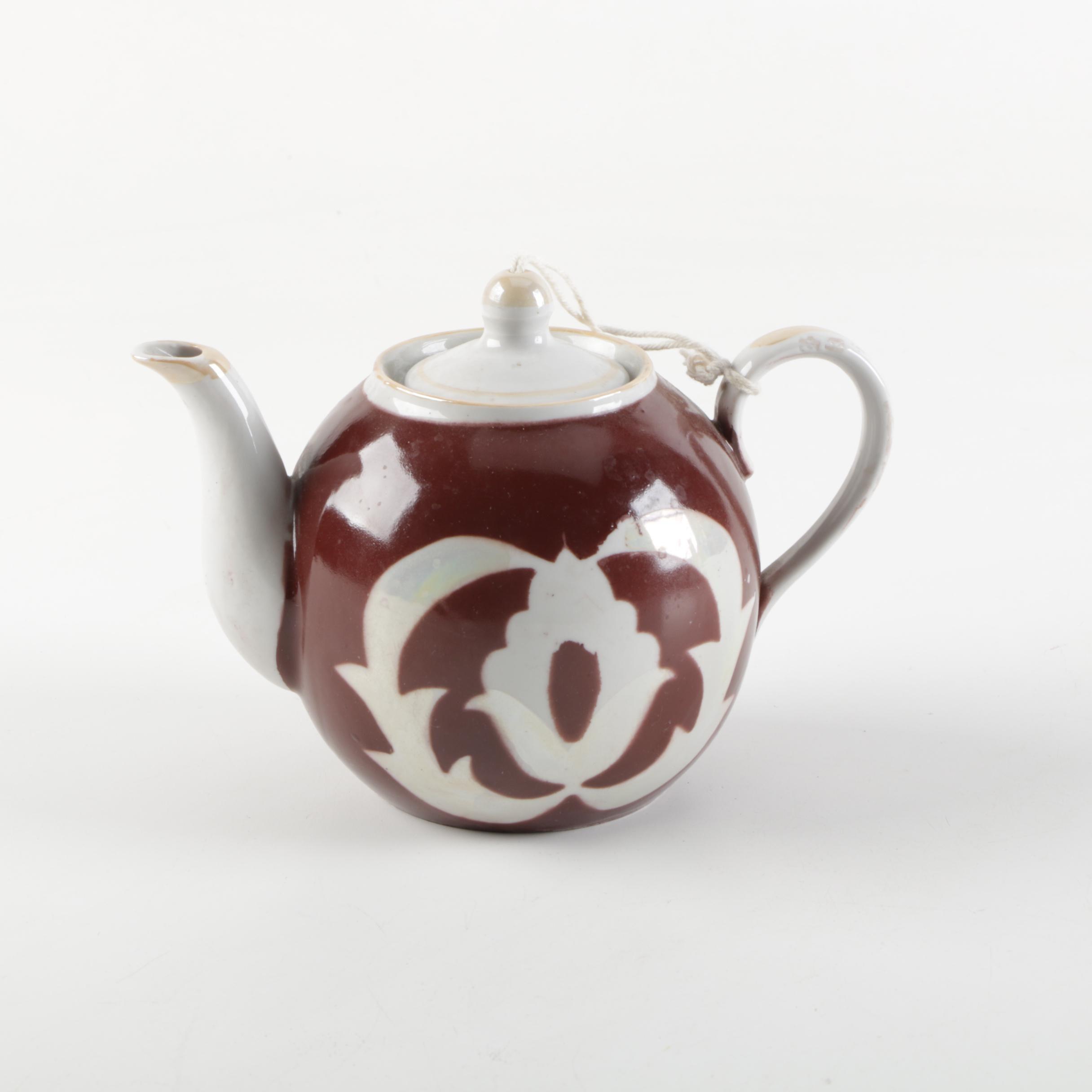 Antique Russian Porcelain Teapot