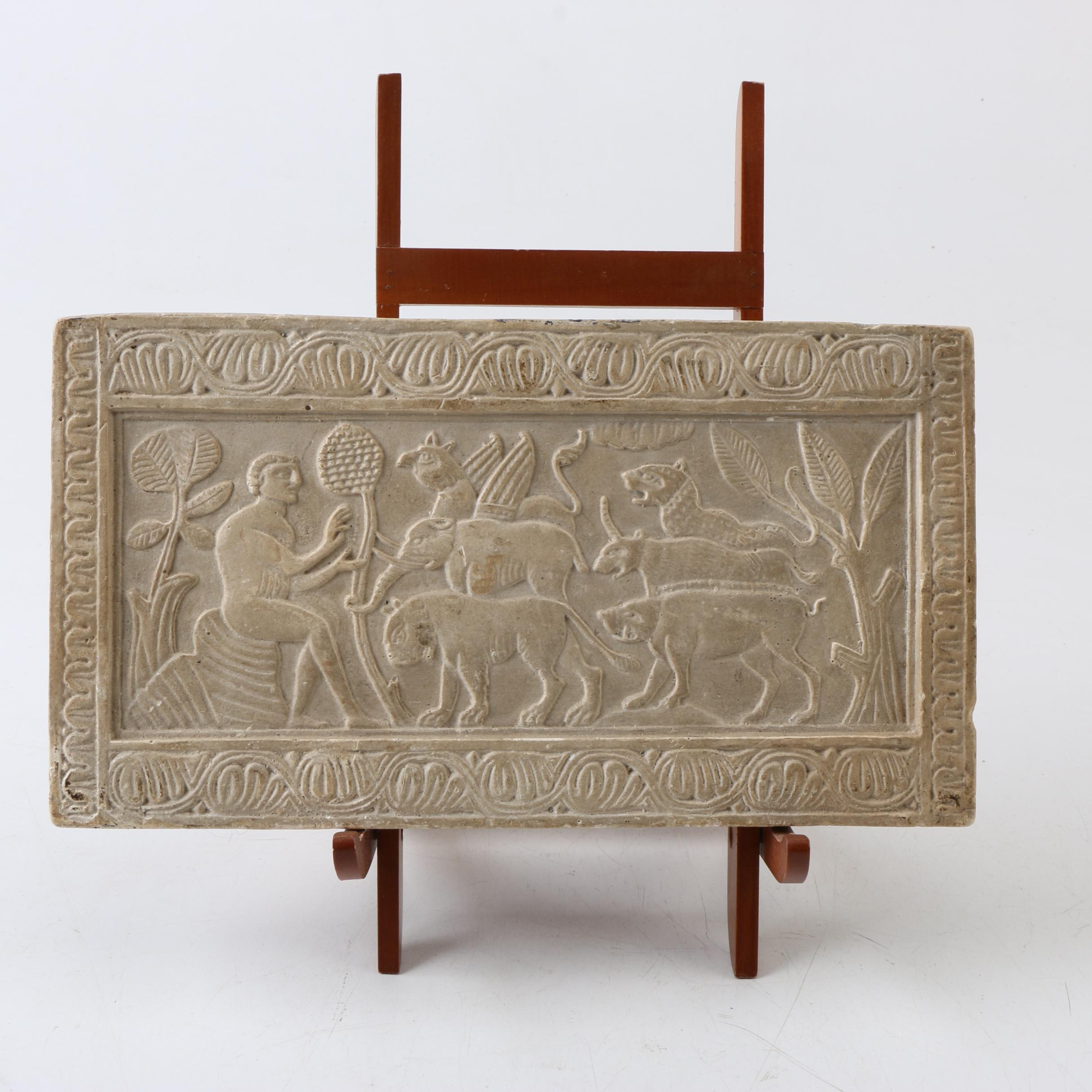 Archaeological Casting of 12th Century Ossuary Panel