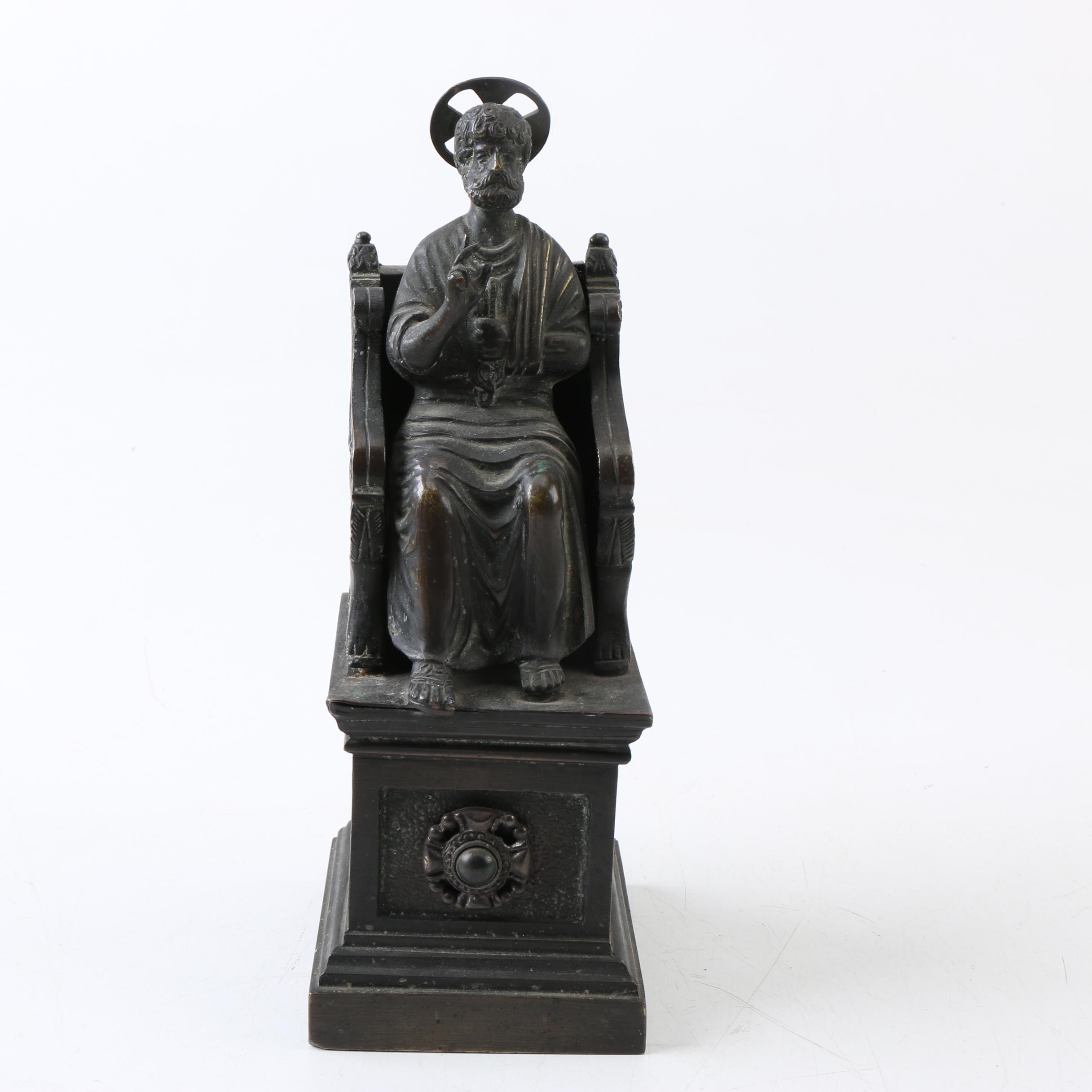 Brass Reproduction Sculpture of Saint Peter