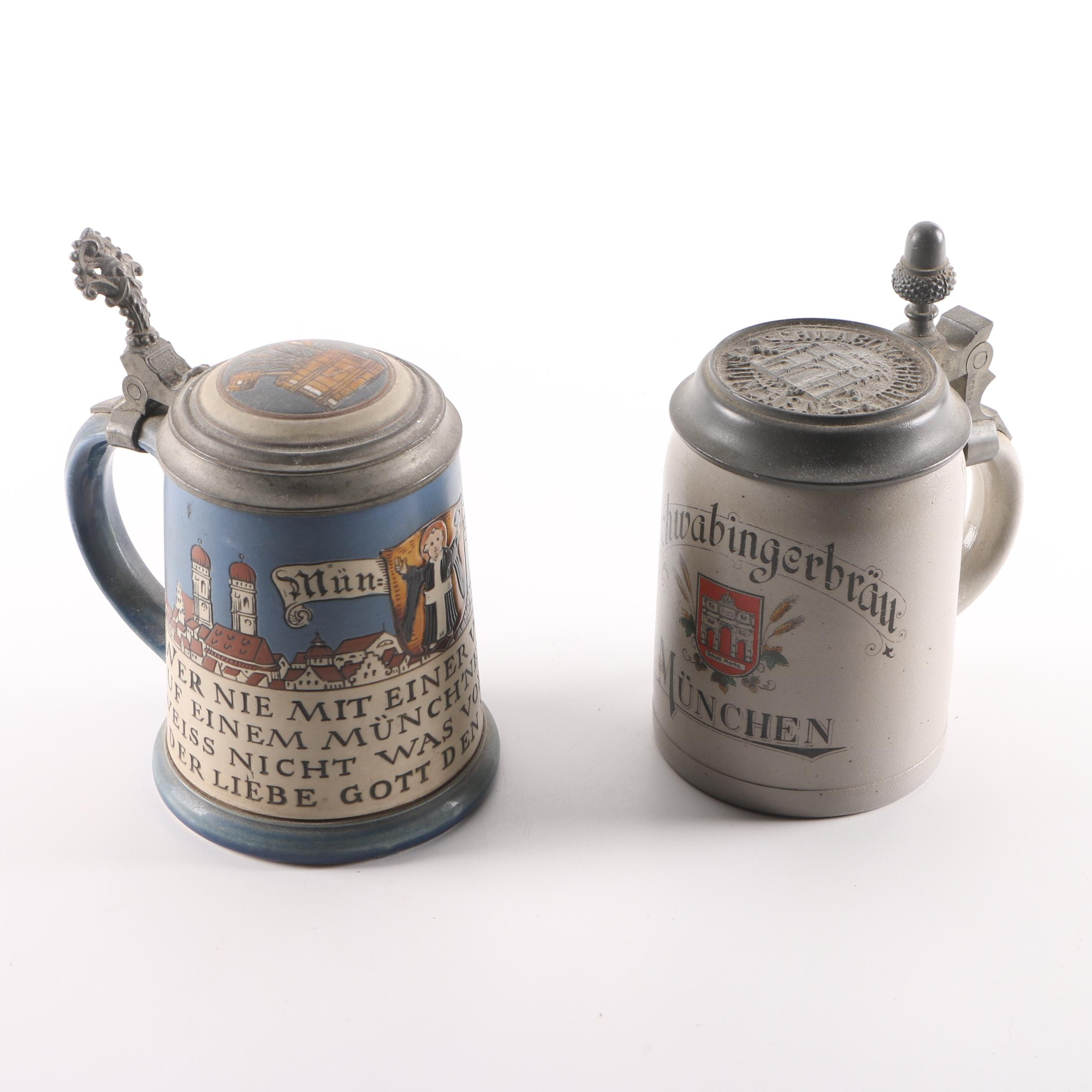 Half Liter Ceramic Beer Steins