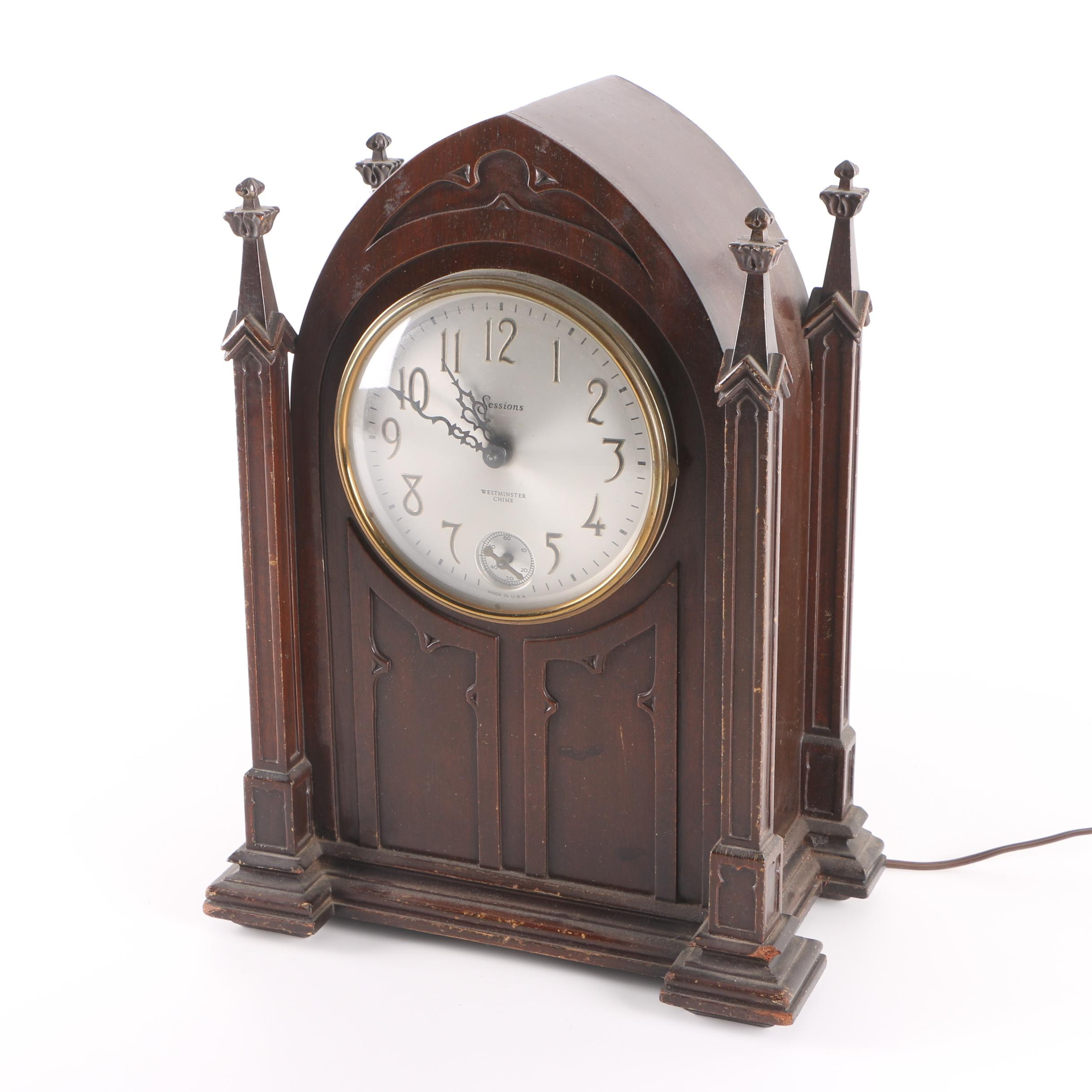 Vintage Gothic Style Sessions  Westminister Chime Mantel Clock
