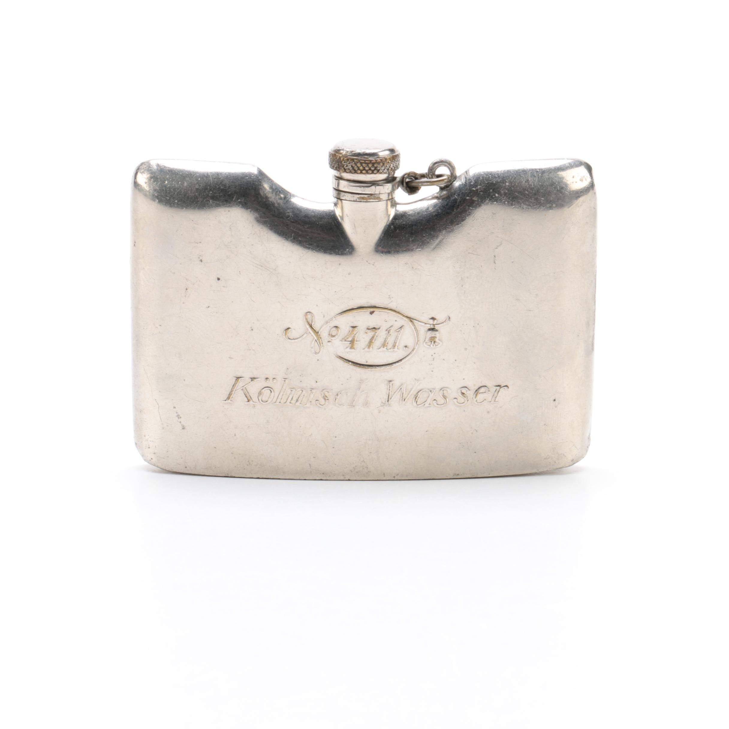 German Silver Plate Hip Flask
