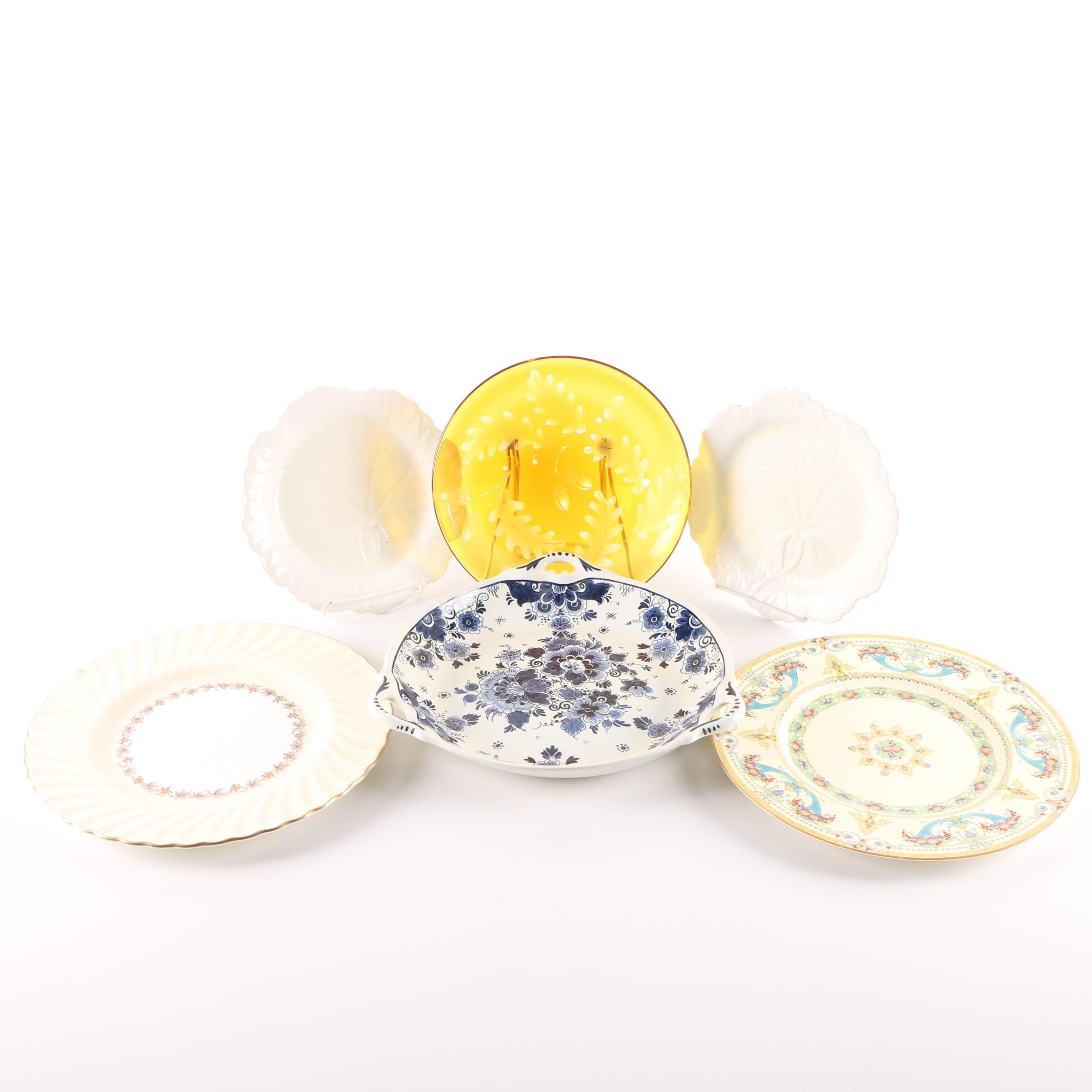 Ceramic and Glass Tableware Including Vintage Royal Worcester