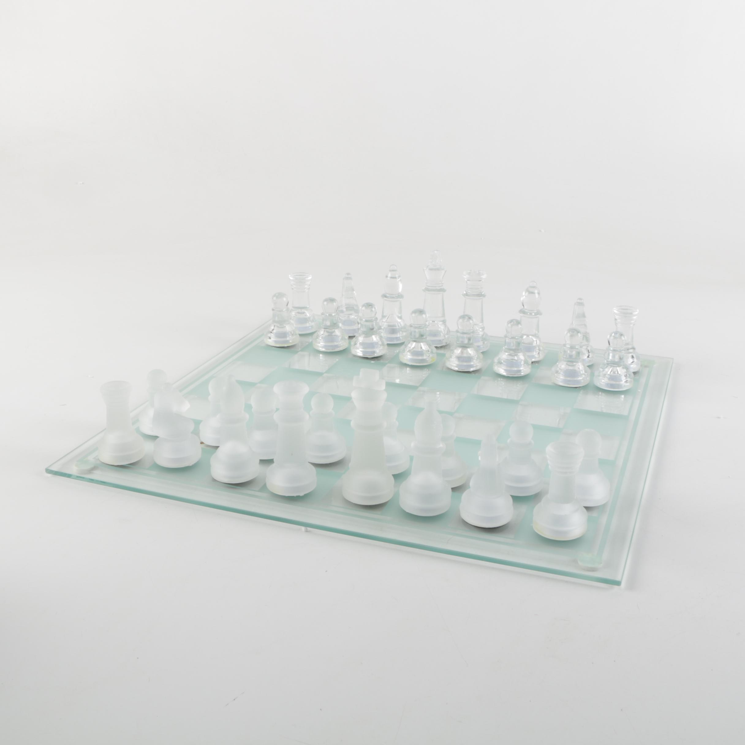 Saint Laruent Collection Glass Crystal Chess Set