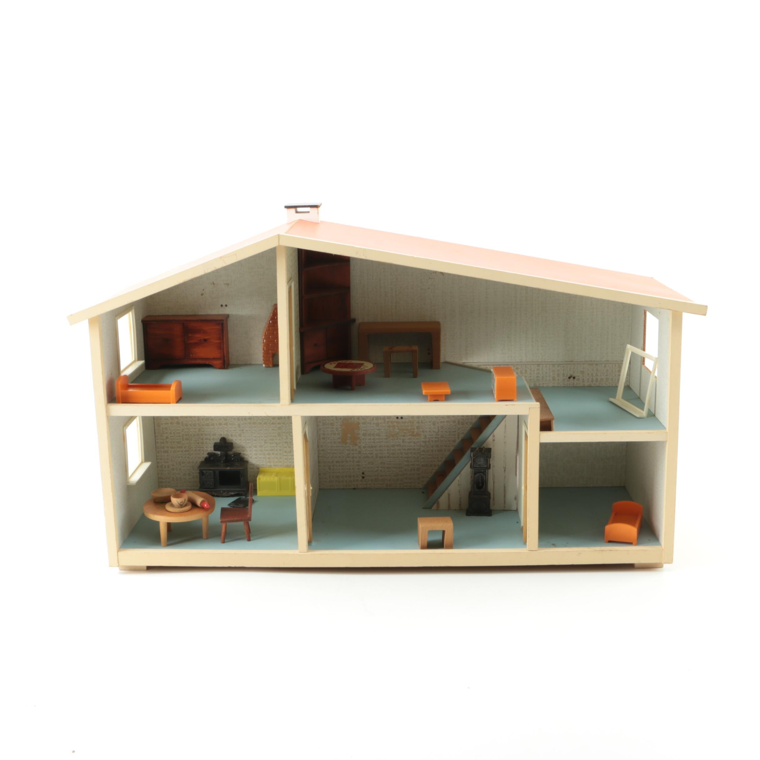 1960s Lundby Dollhouse with Furnishings