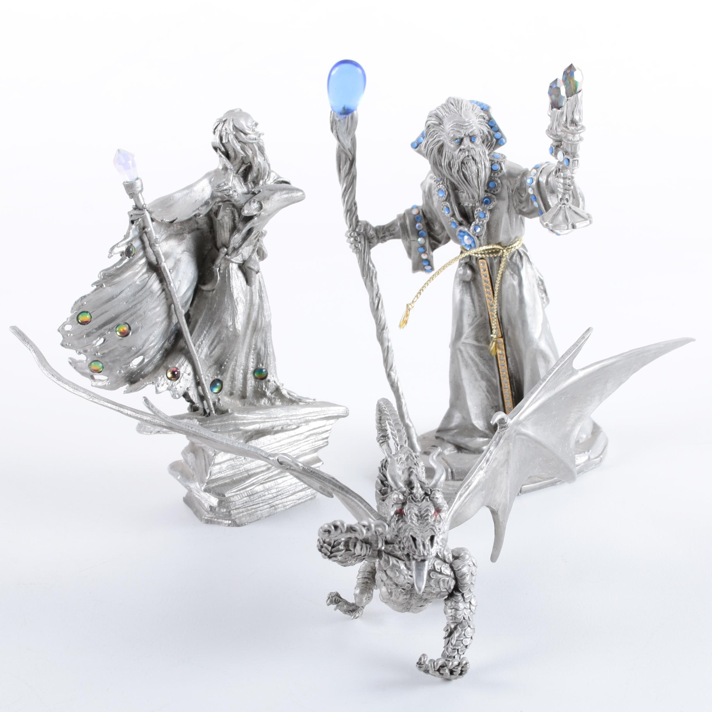 Pewter and Resin Fantasy Figurines