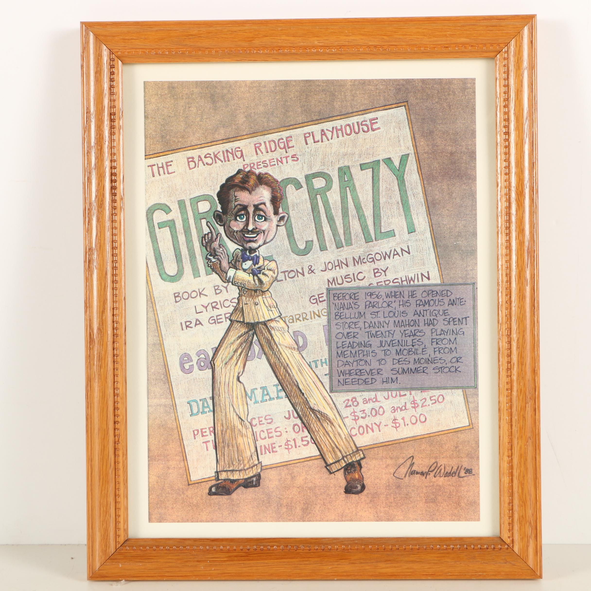 "Offset Lithograph After Norman P. Wadell Poster ""Girl Crazy"""