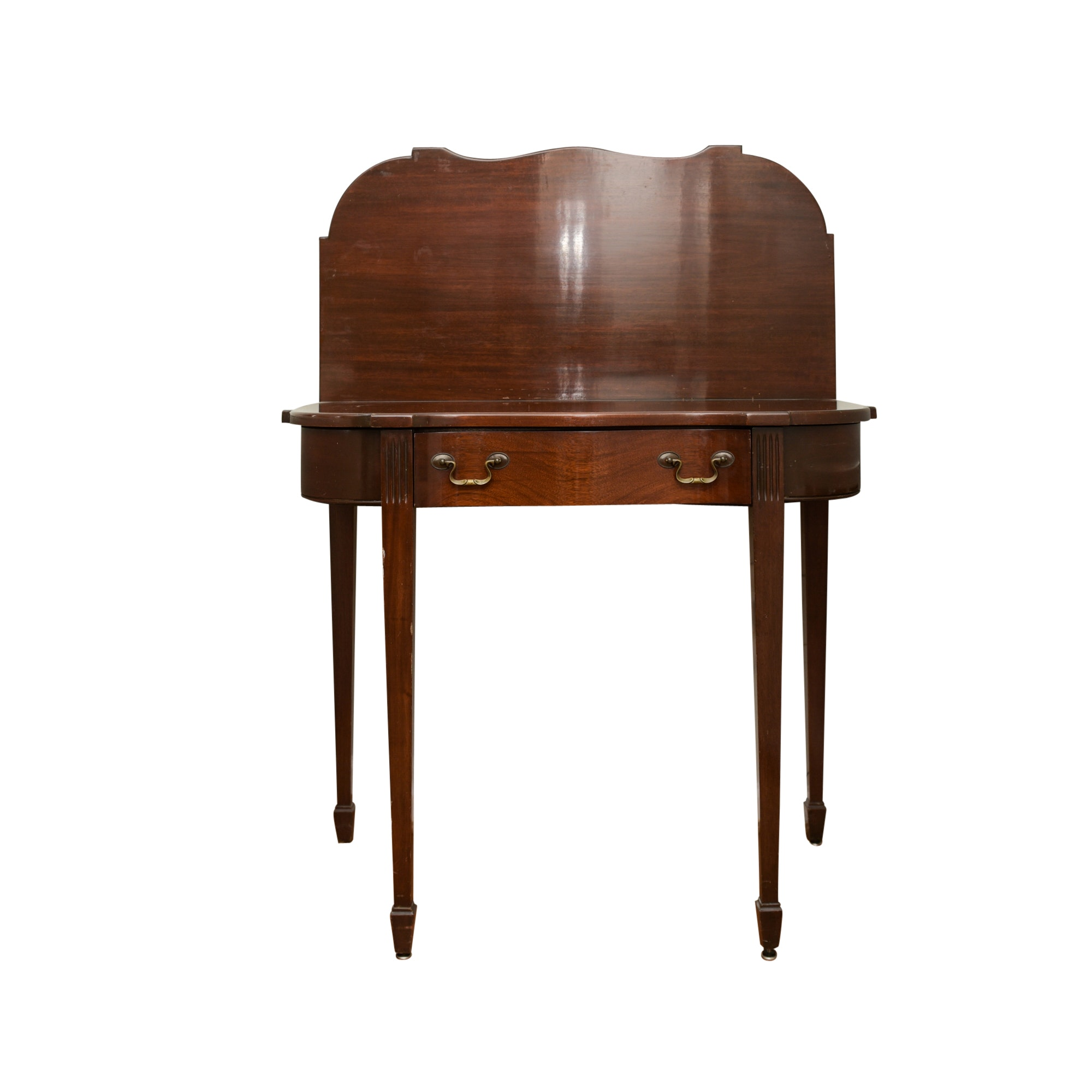 Vintage Hepplewhite Style Card Table with Drawer