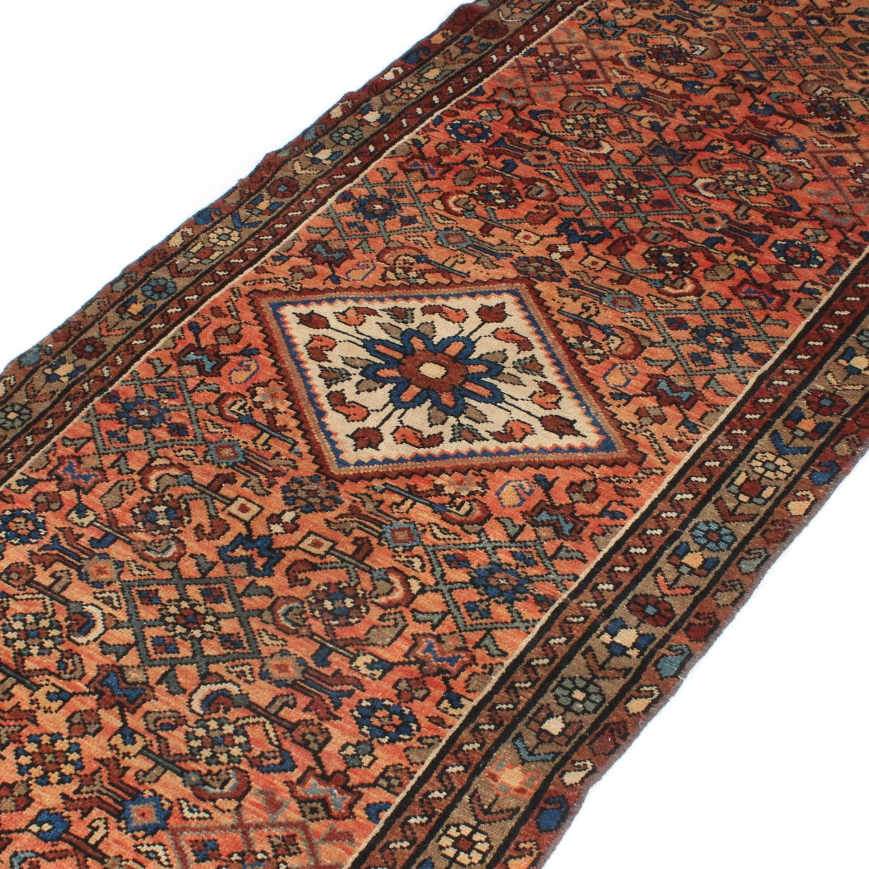 3' x 9' Vintage Hand-Knotted Persian Mallayer Sarouk Rug Runner